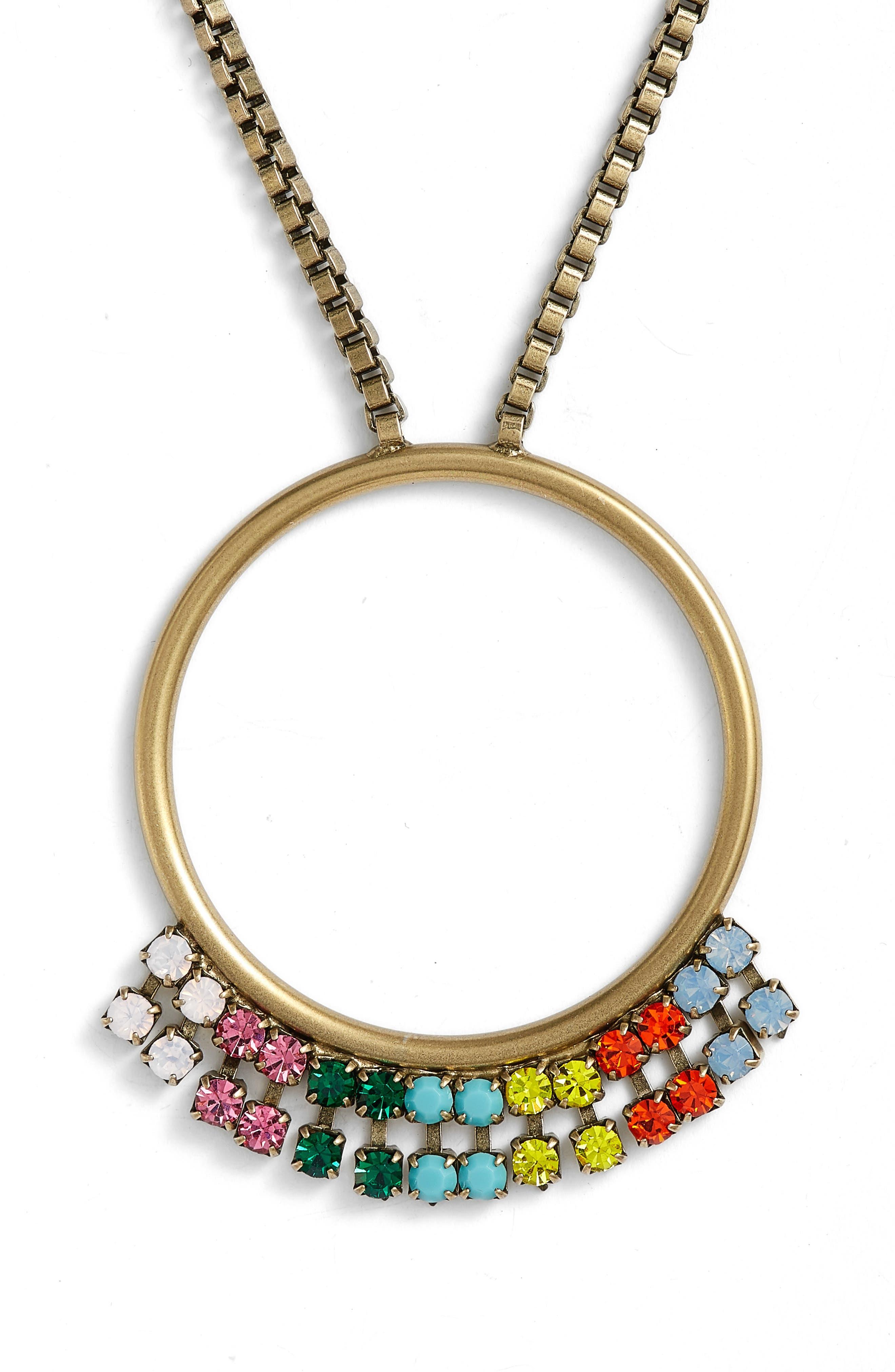 Emma Pendant Necklace,                             Alternate thumbnail 2, color,                             GOLD MULTI
