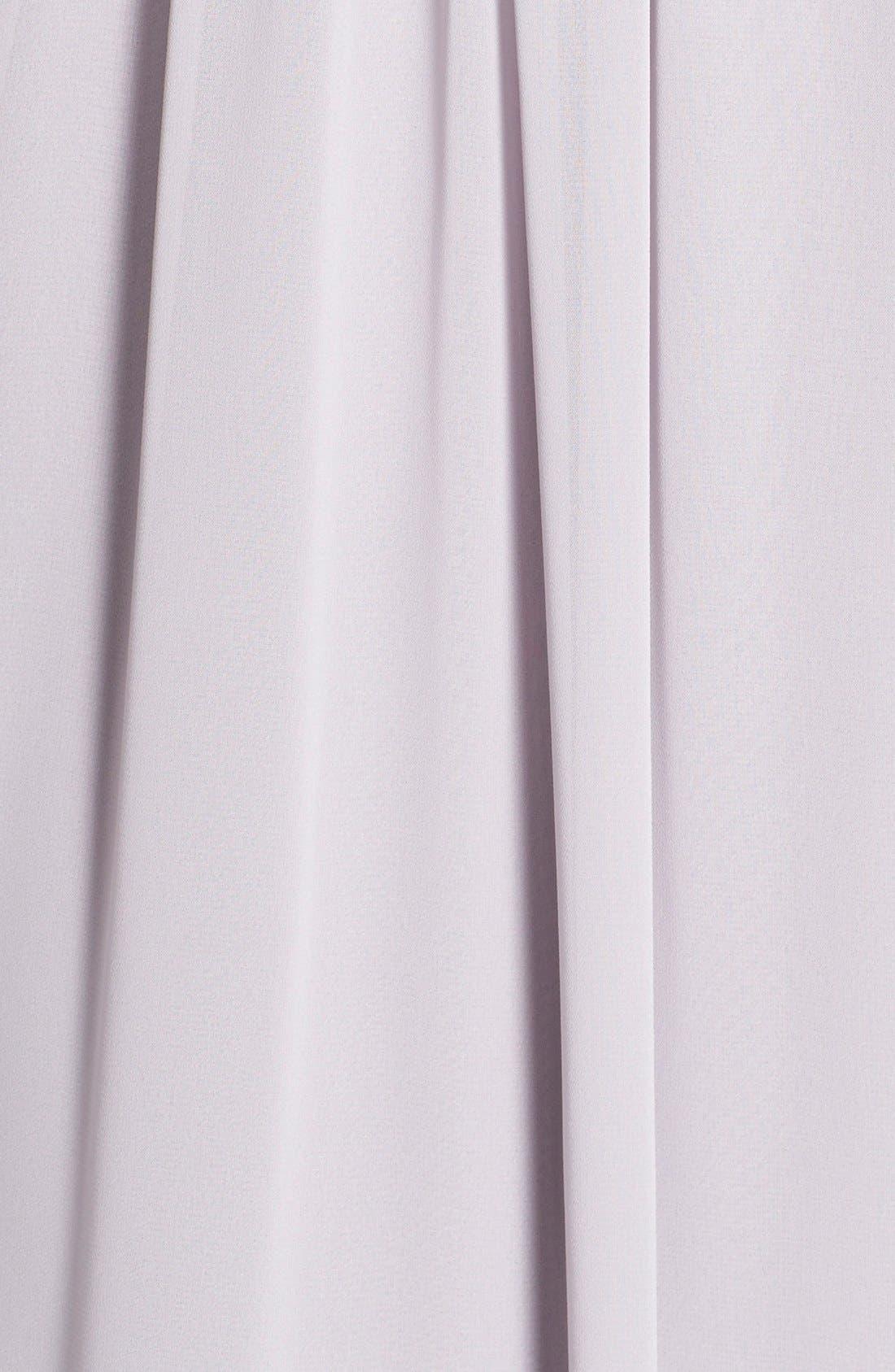 Newbury Gathered Sleeve Chiffon Wrap Gown,                             Alternate thumbnail 26, color,