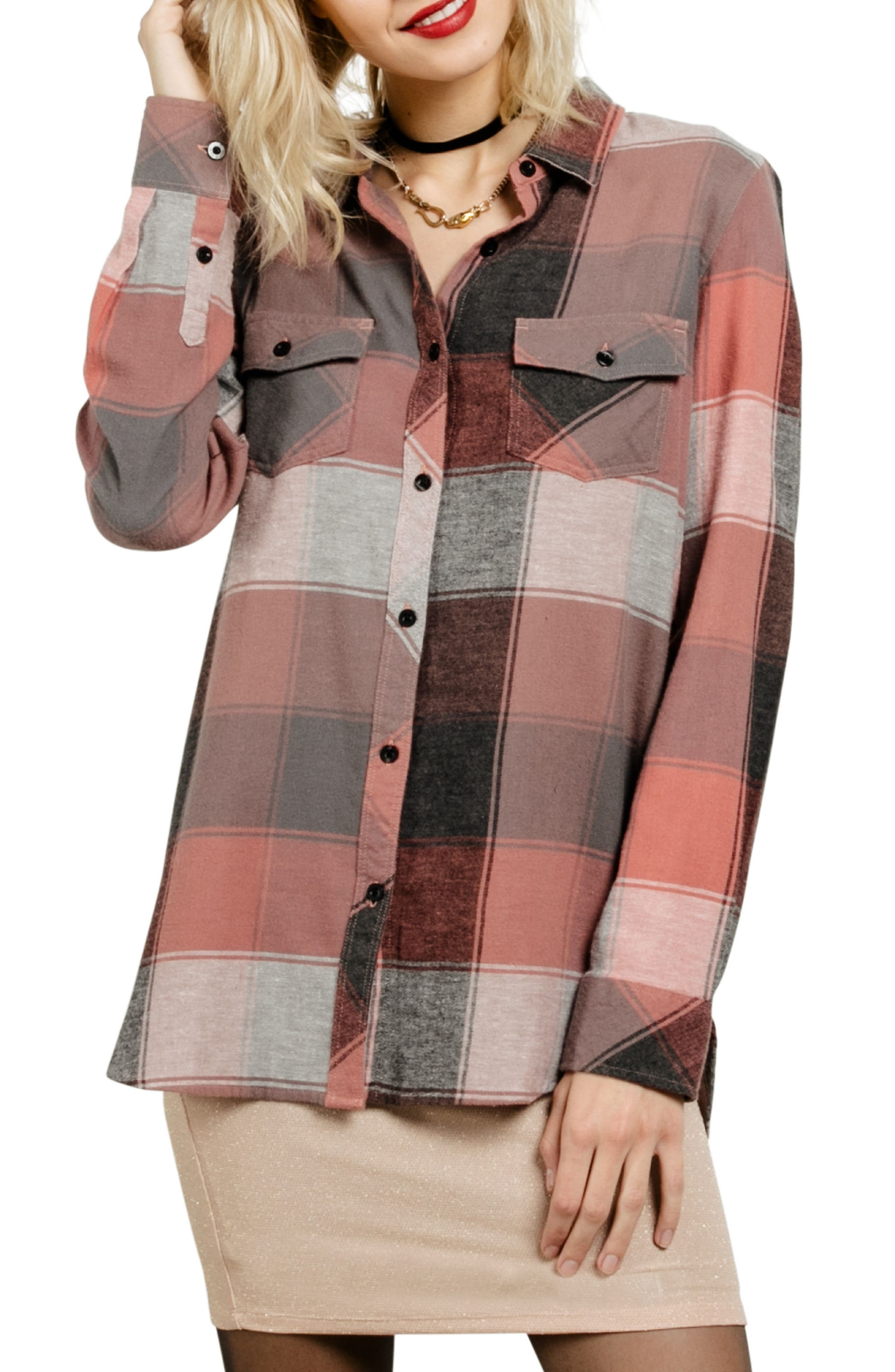 Fly High Flannel Top,                             Main thumbnail 3, color,