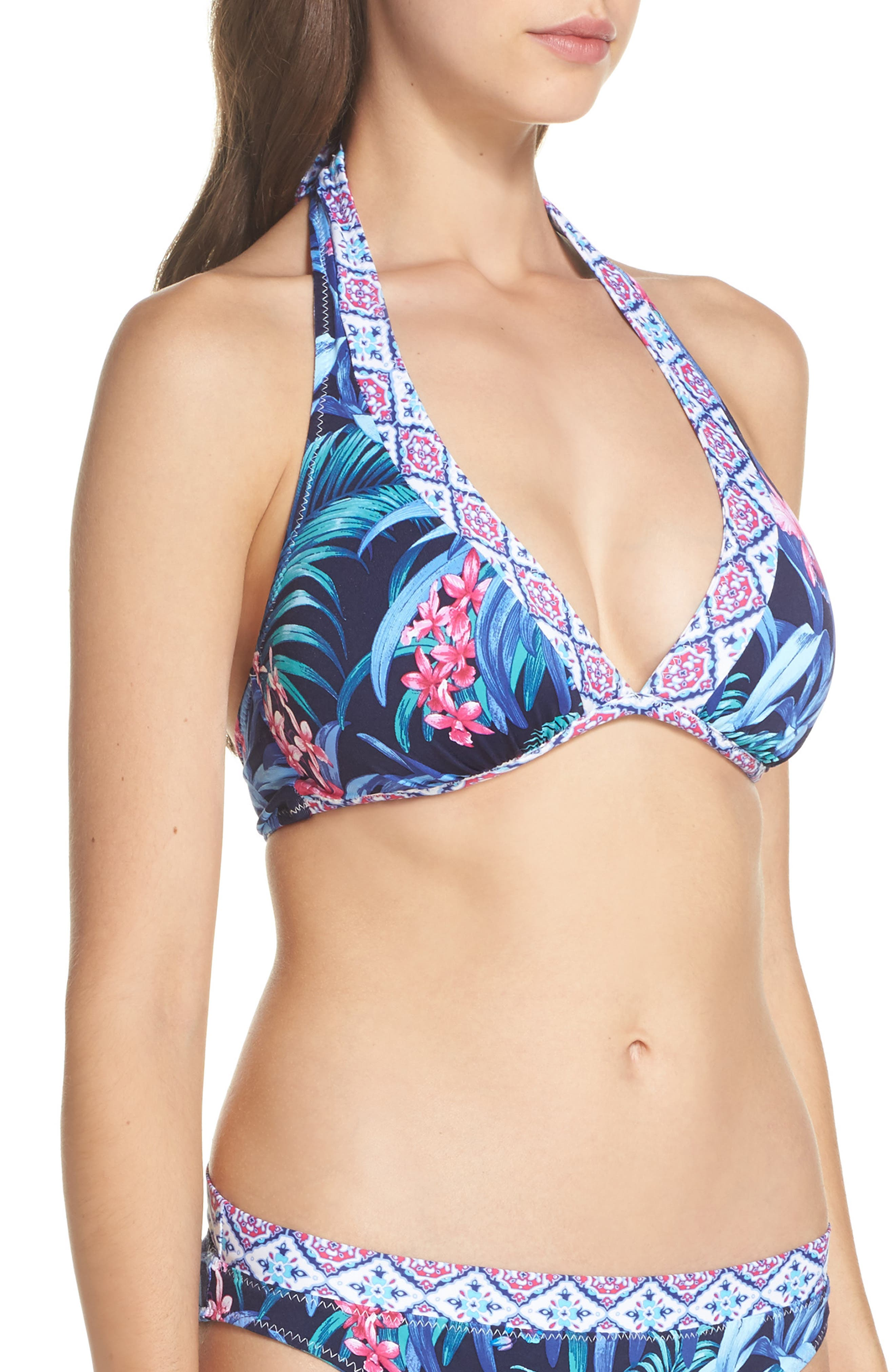 Majorelle Reversible Bikini Top,                             Alternate thumbnail 4, color,                             400