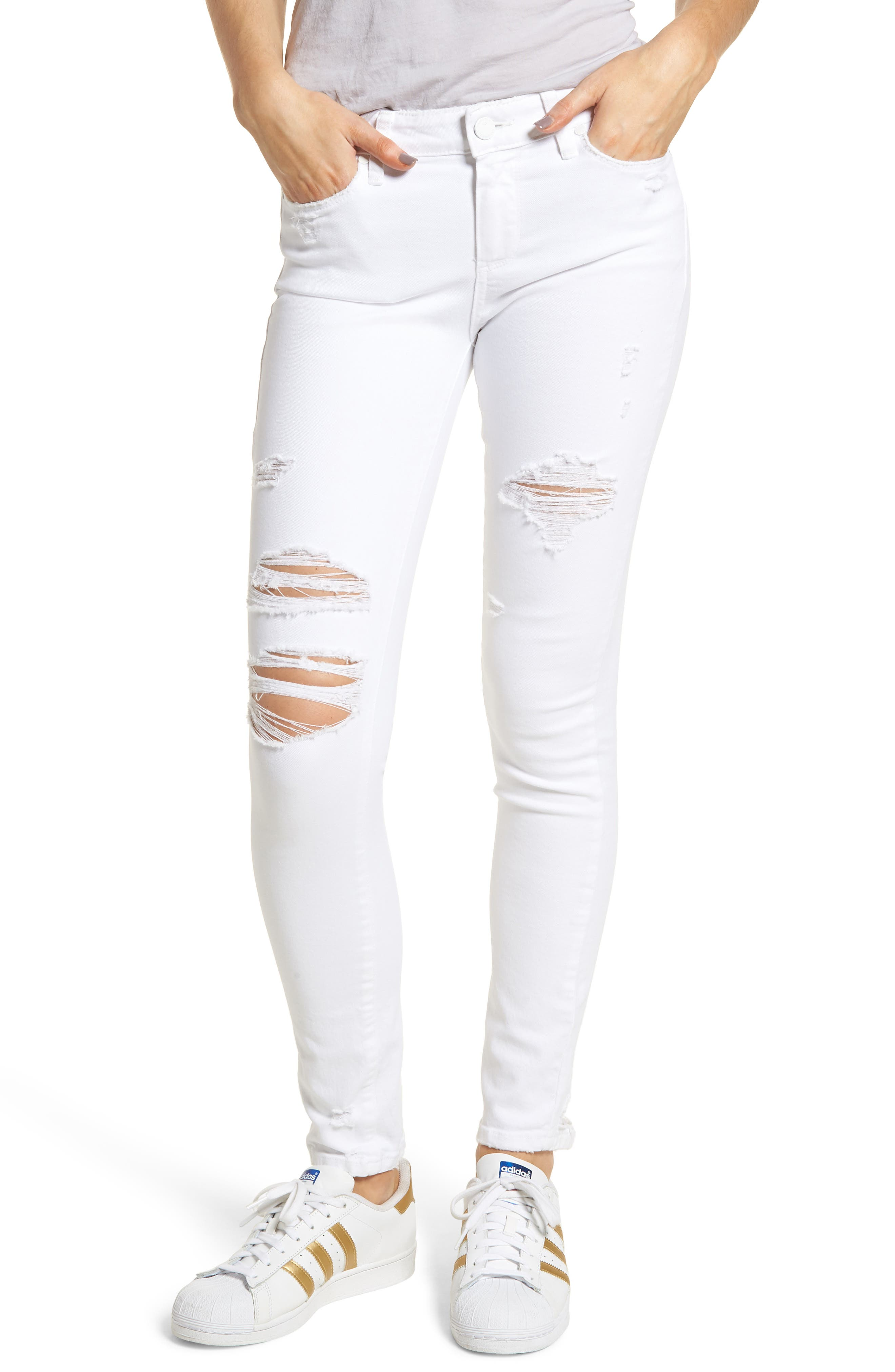 Verdugo Ripped Ultra Skinny Jeans,                         Main,                         color, 100