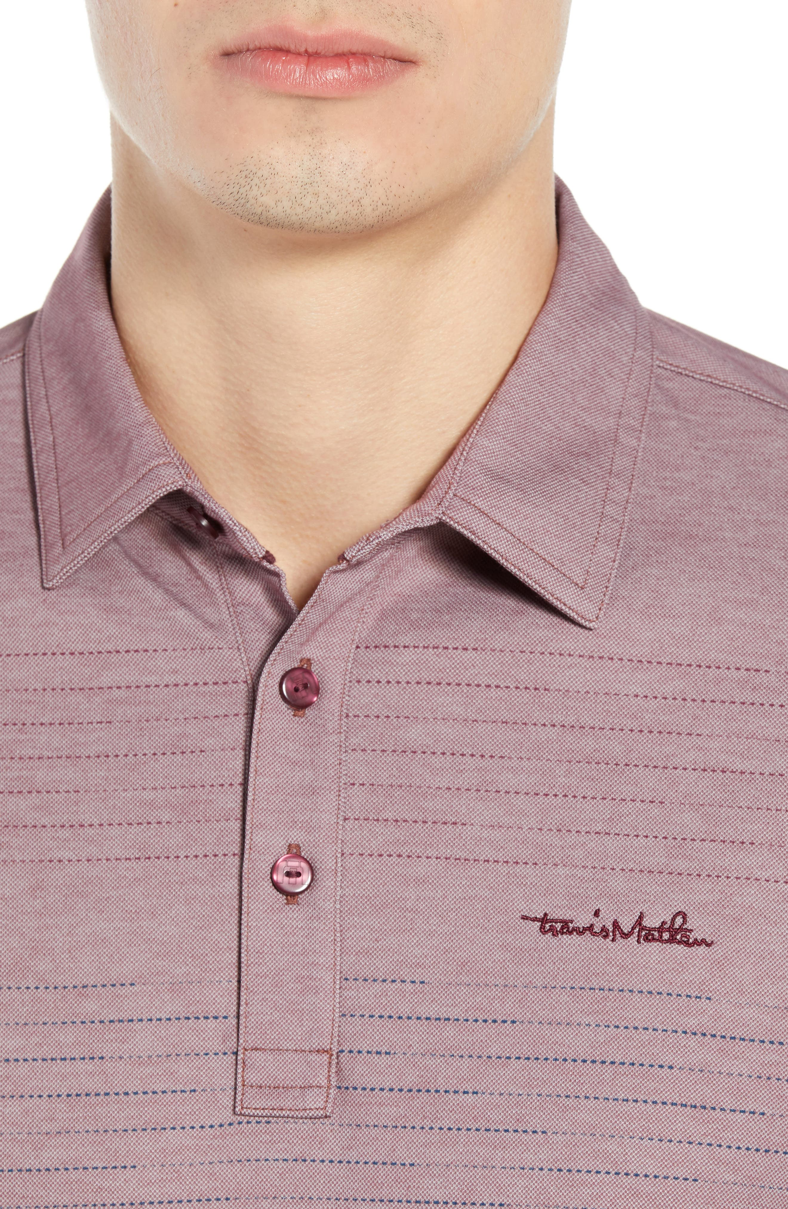 Asleep at the Wheel Regular Fit Polo,                             Alternate thumbnail 4, color,                             EGGPLANT/ MICRO CHIP