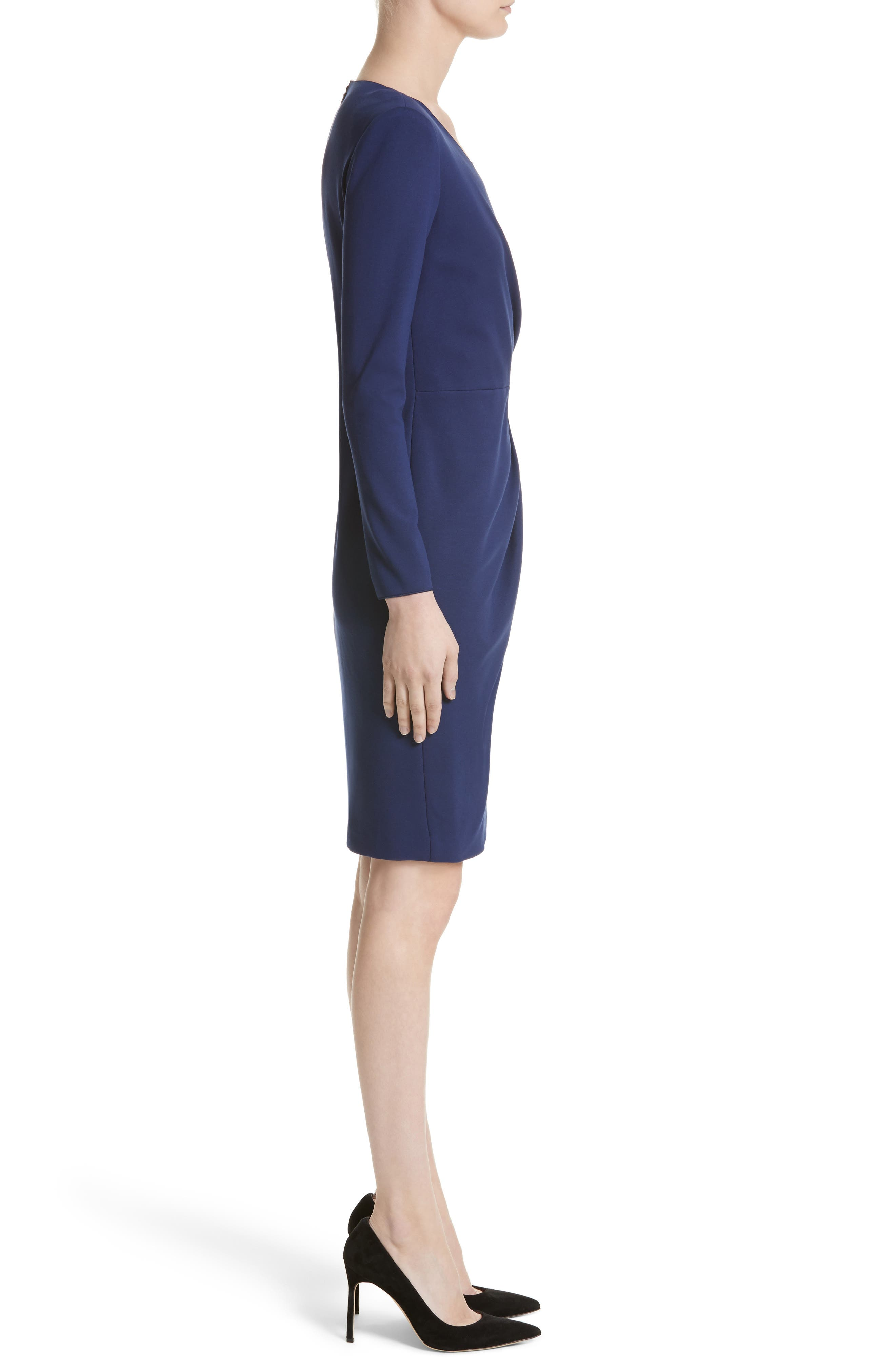 Side Gather Milano Jersey Dress,                             Alternate thumbnail 3, color,                             484