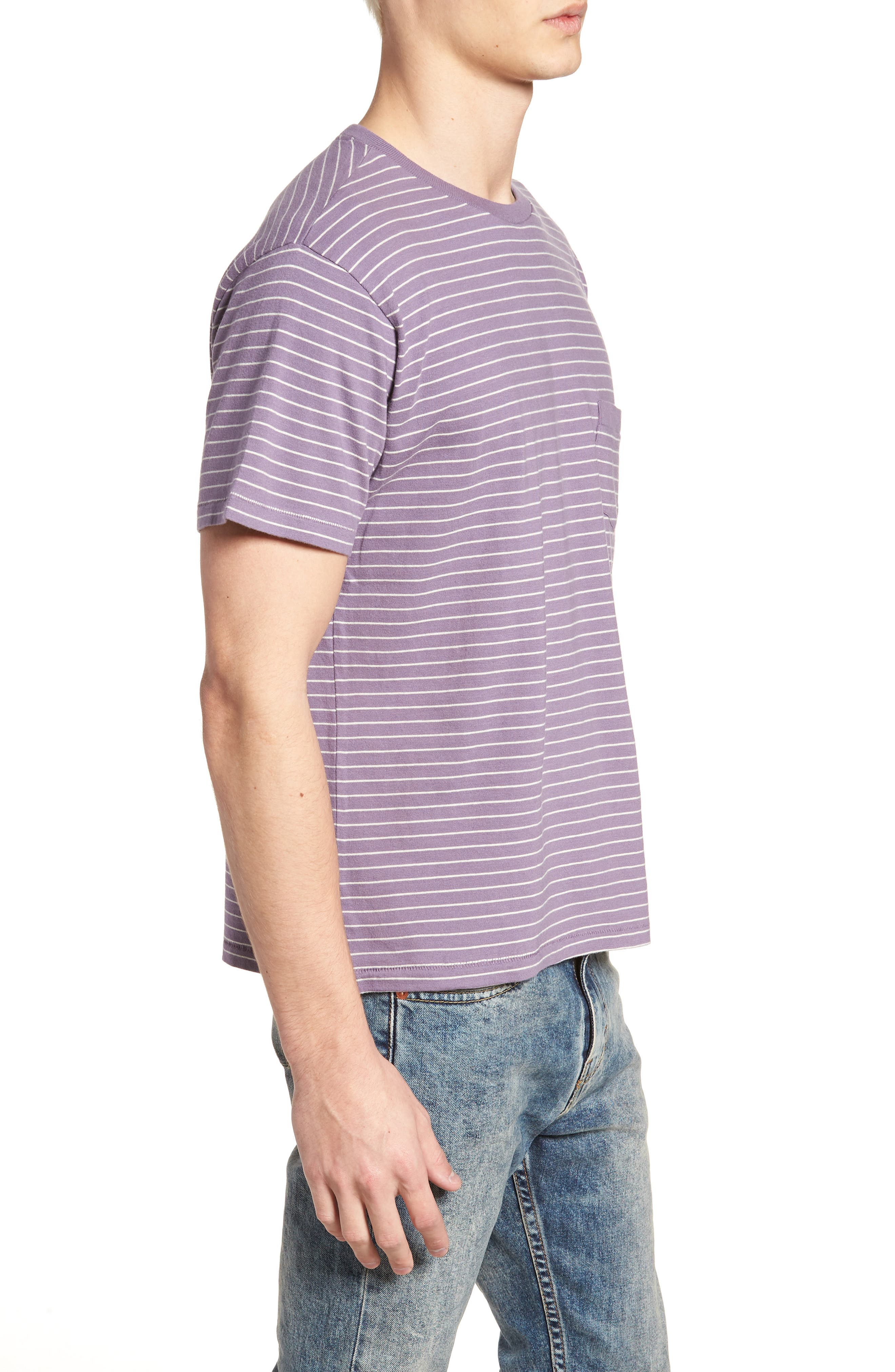 1940s Split Hem T-Shirt,                             Alternate thumbnail 3, color,                             400