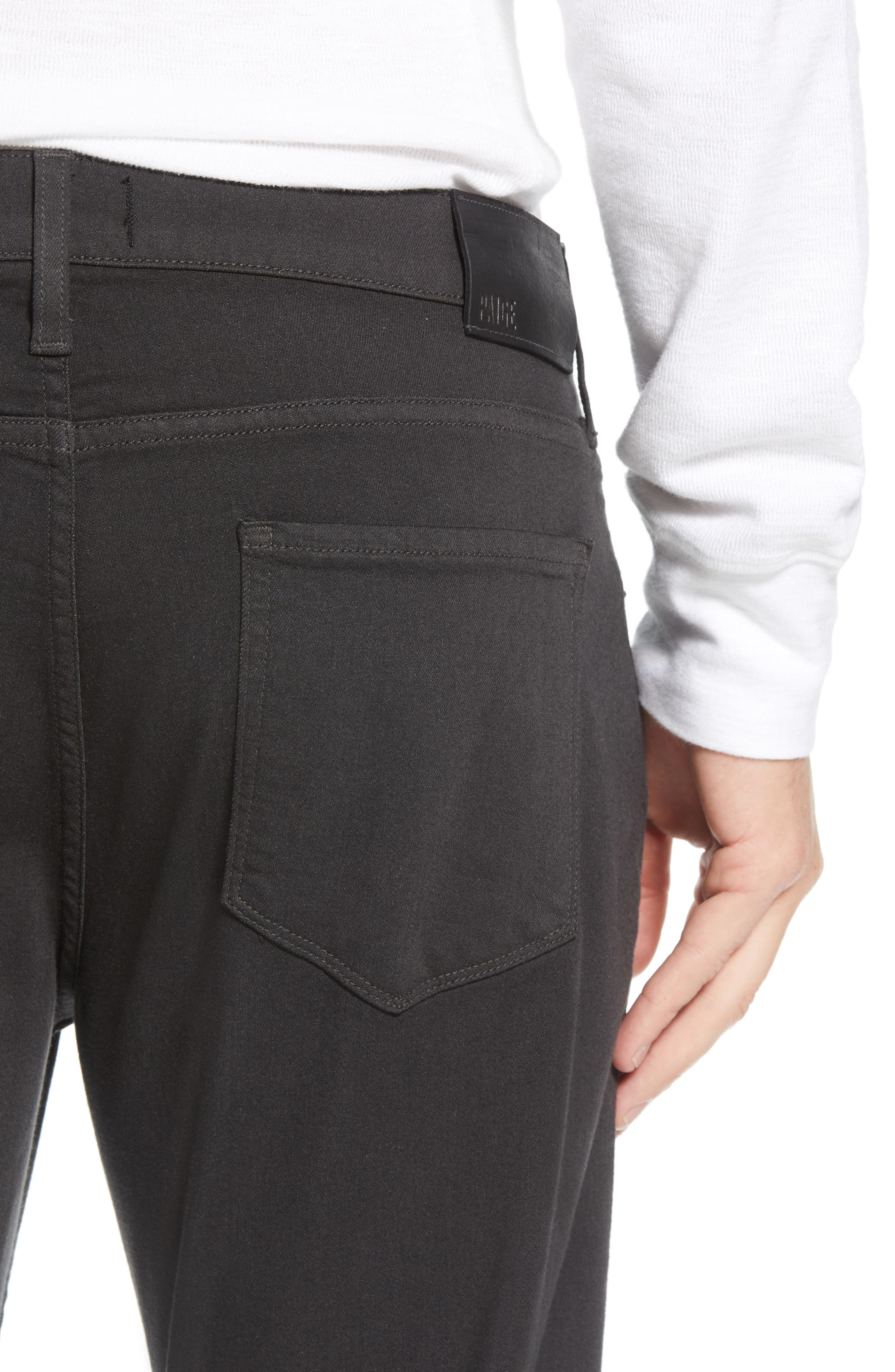 Transcend - Normandie Straight Leg Jeans,                             Alternate thumbnail 4, color,                             MIDNIGHT GREY