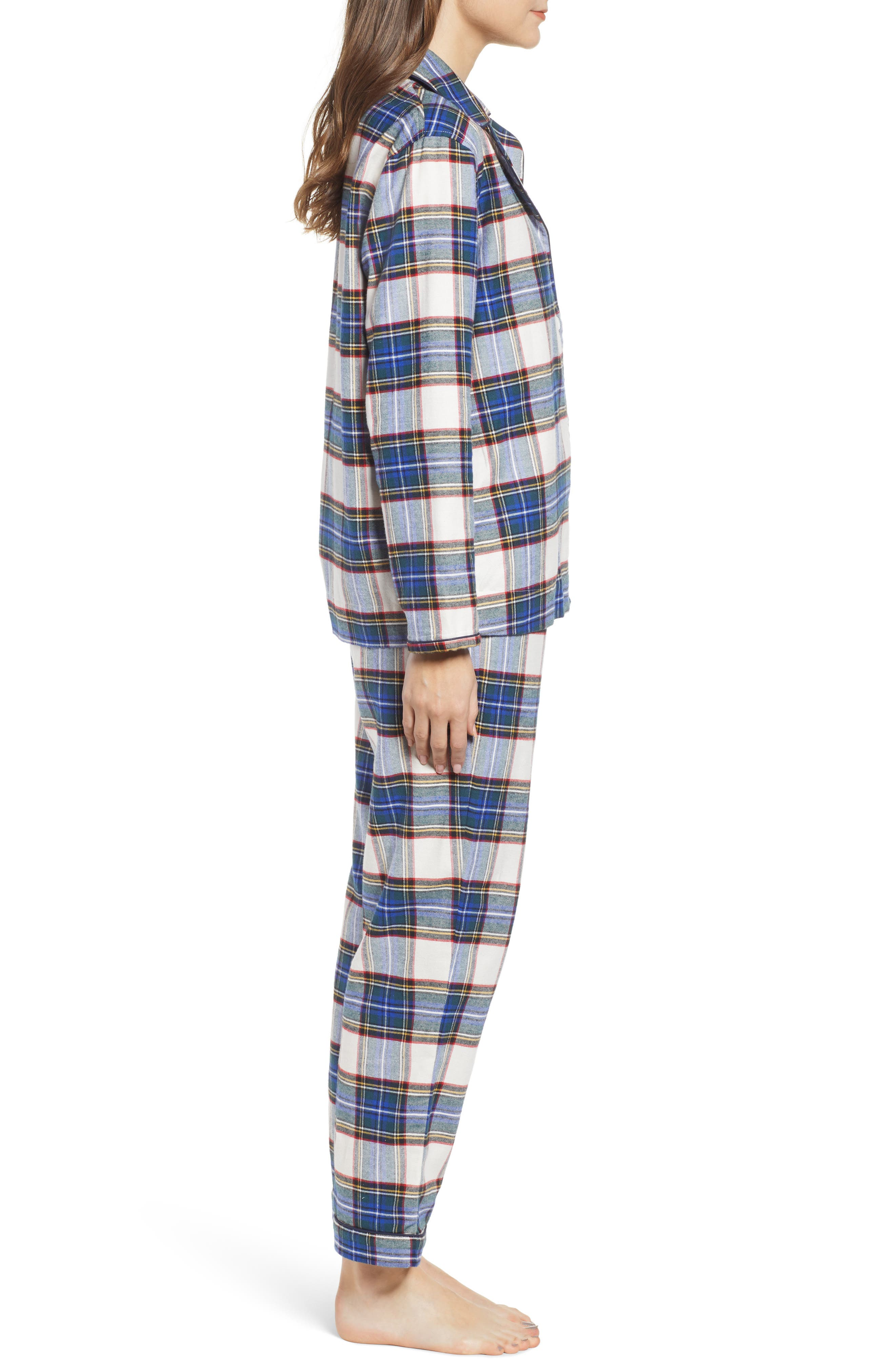 Bishop Women's Pajamas,                             Alternate thumbnail 3, color,                             FLANNEL PLAID