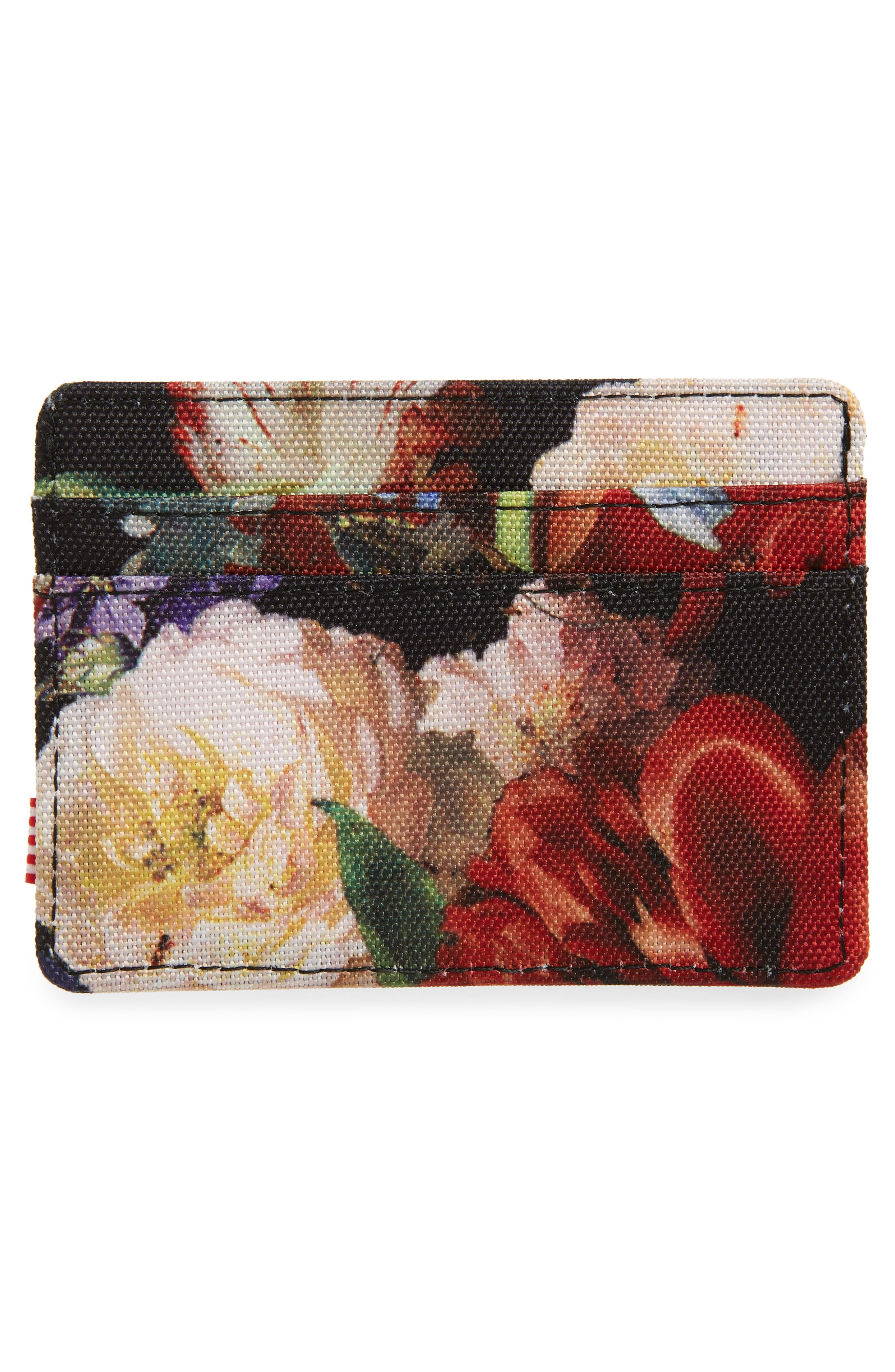 Hoffman Charlie Card Case,                             Alternate thumbnail 2, color,                             FALL FLORAL