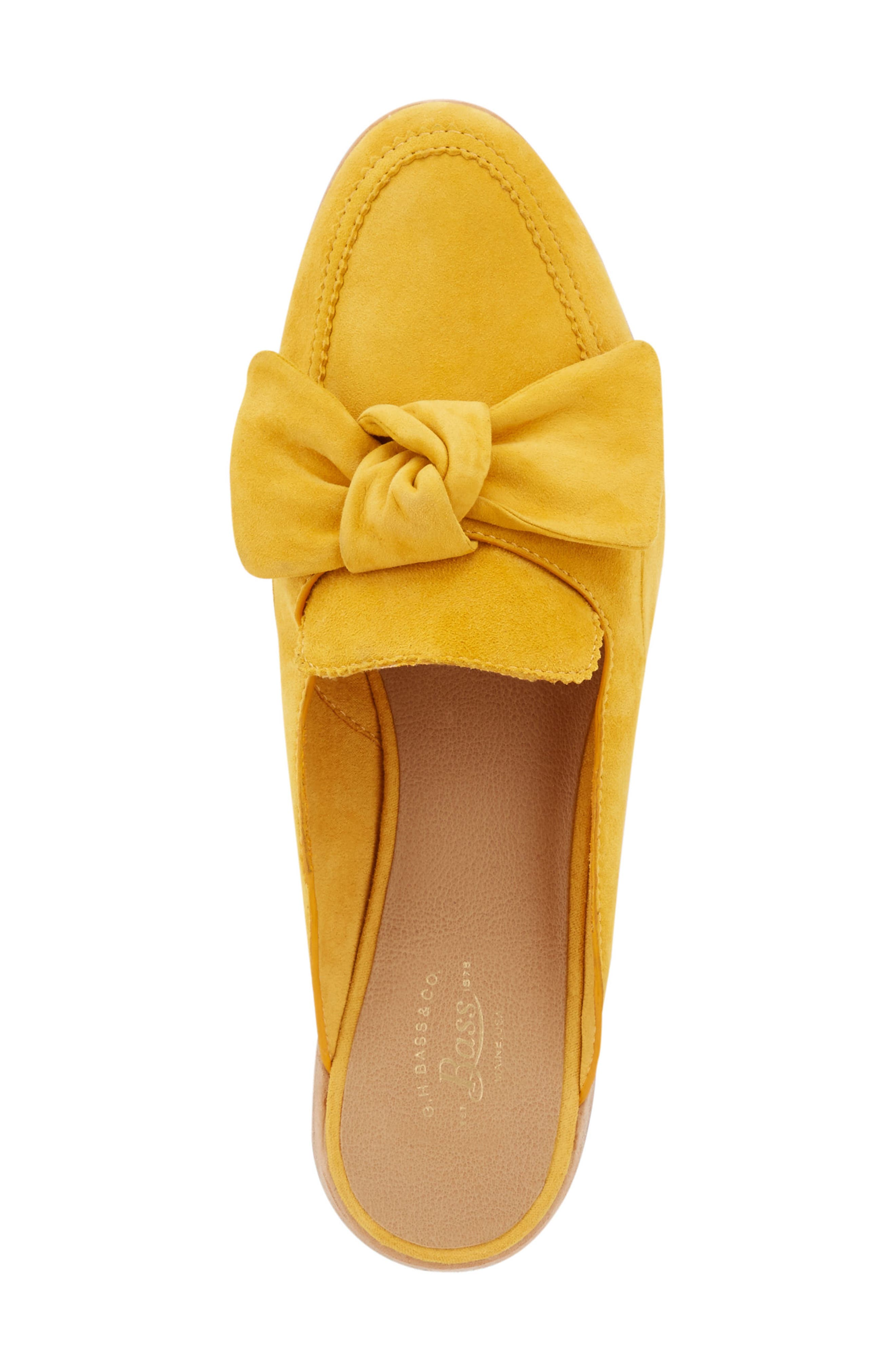 Ebbie Bow Mule,                             Alternate thumbnail 5, color,                             YELLOW SUEDE