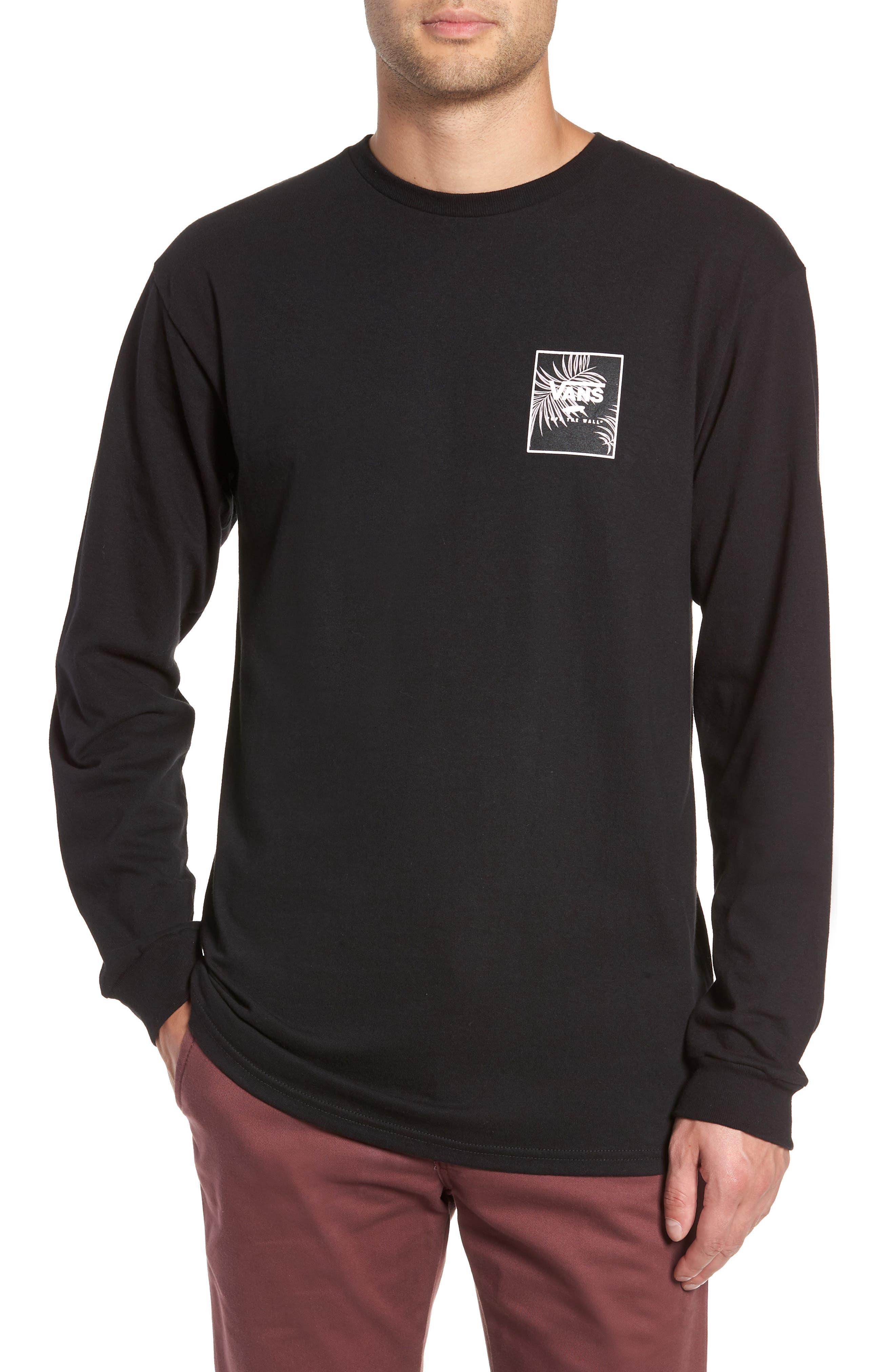 Print Box Long Sleeve Graphic T-Shirt,                             Main thumbnail 1, color,                             001