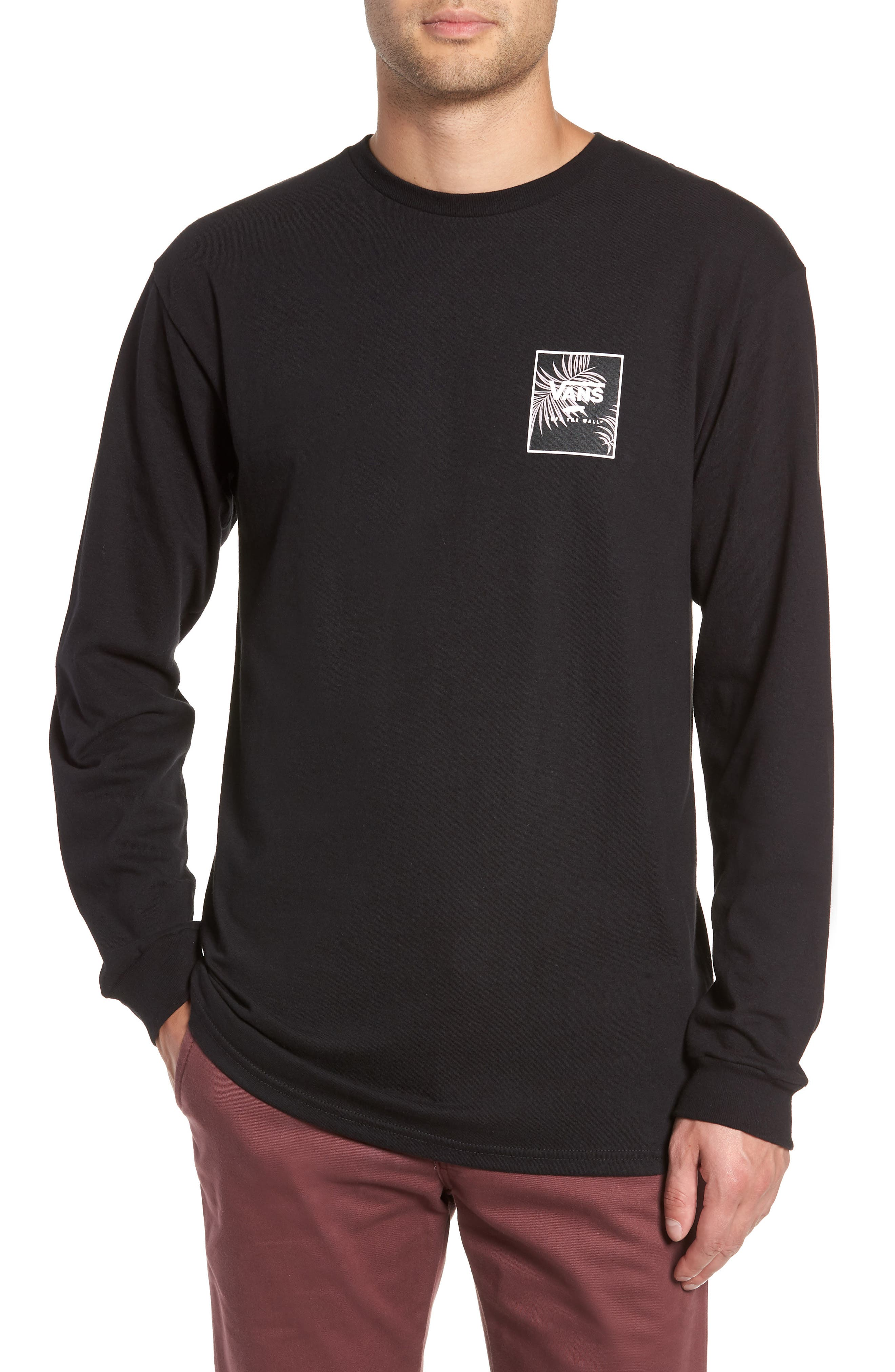 Print Box Long Sleeve Graphic T-Shirt,                         Main,                         color, 001