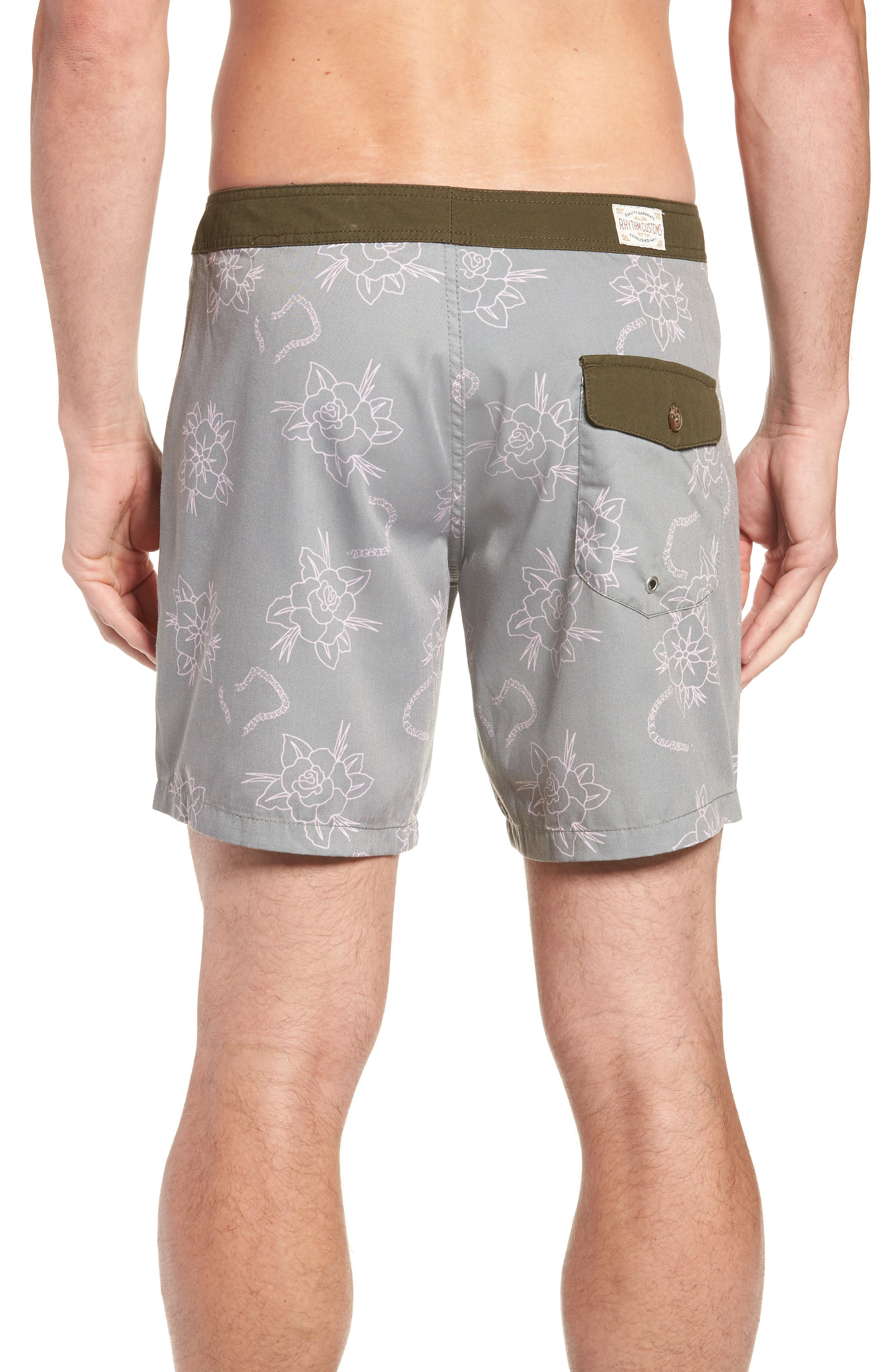 Island Swim Trunks,                             Alternate thumbnail 2, color,                             OLIVE
