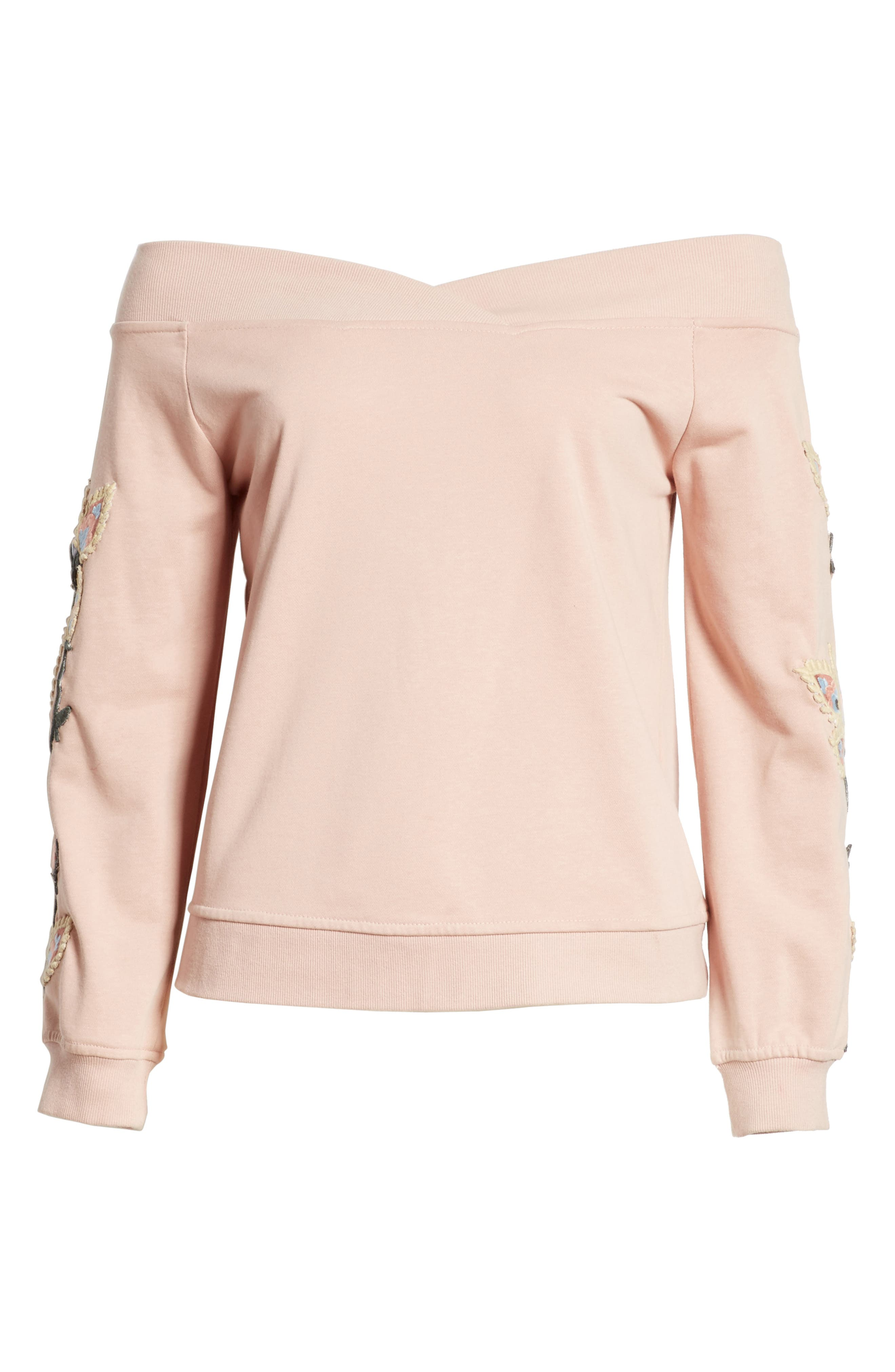 Macey Embroidered Sweatshirt,                             Alternate thumbnail 6, color,                             665