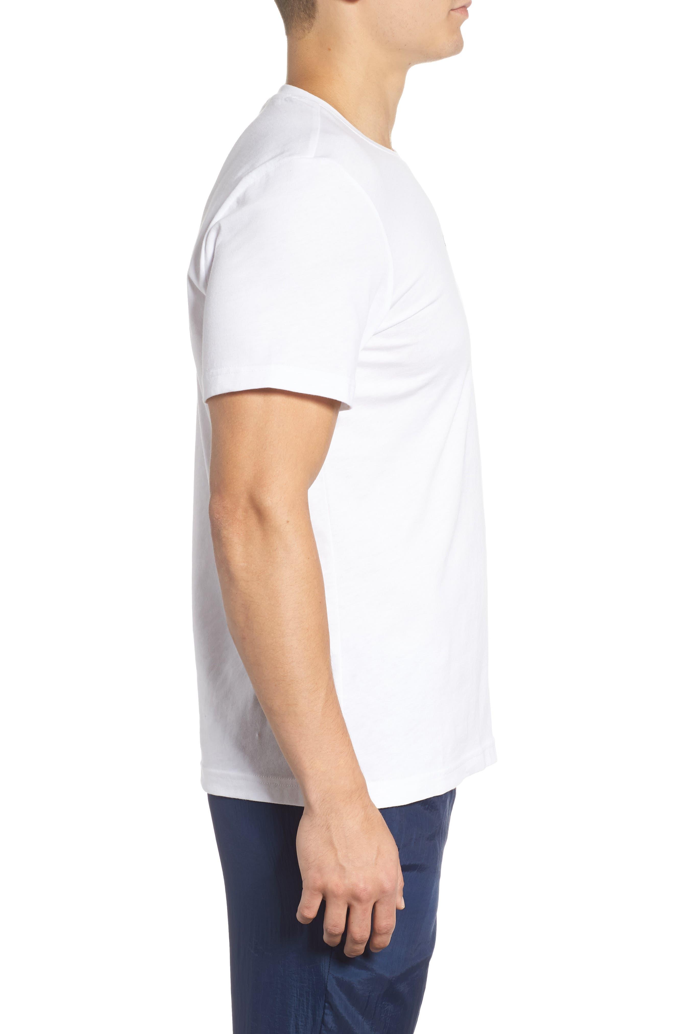 B-Ball Vector Logo T-Shirt,                             Alternate thumbnail 3, color,                             WHITE