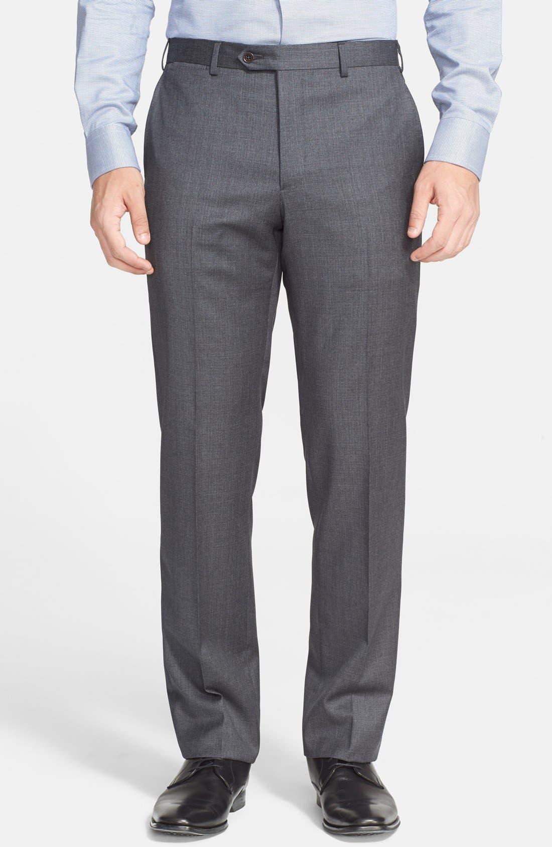 G-Line Trim Fit Solid Wool Suit,                             Alternate thumbnail 4, color,
