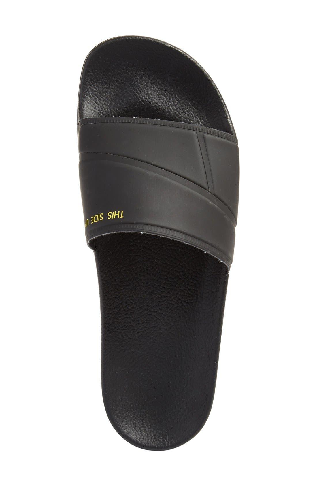 adidas by Raf Simons Bunny Adilette Slide Sandal,                             Alternate thumbnail 2, color,                             001