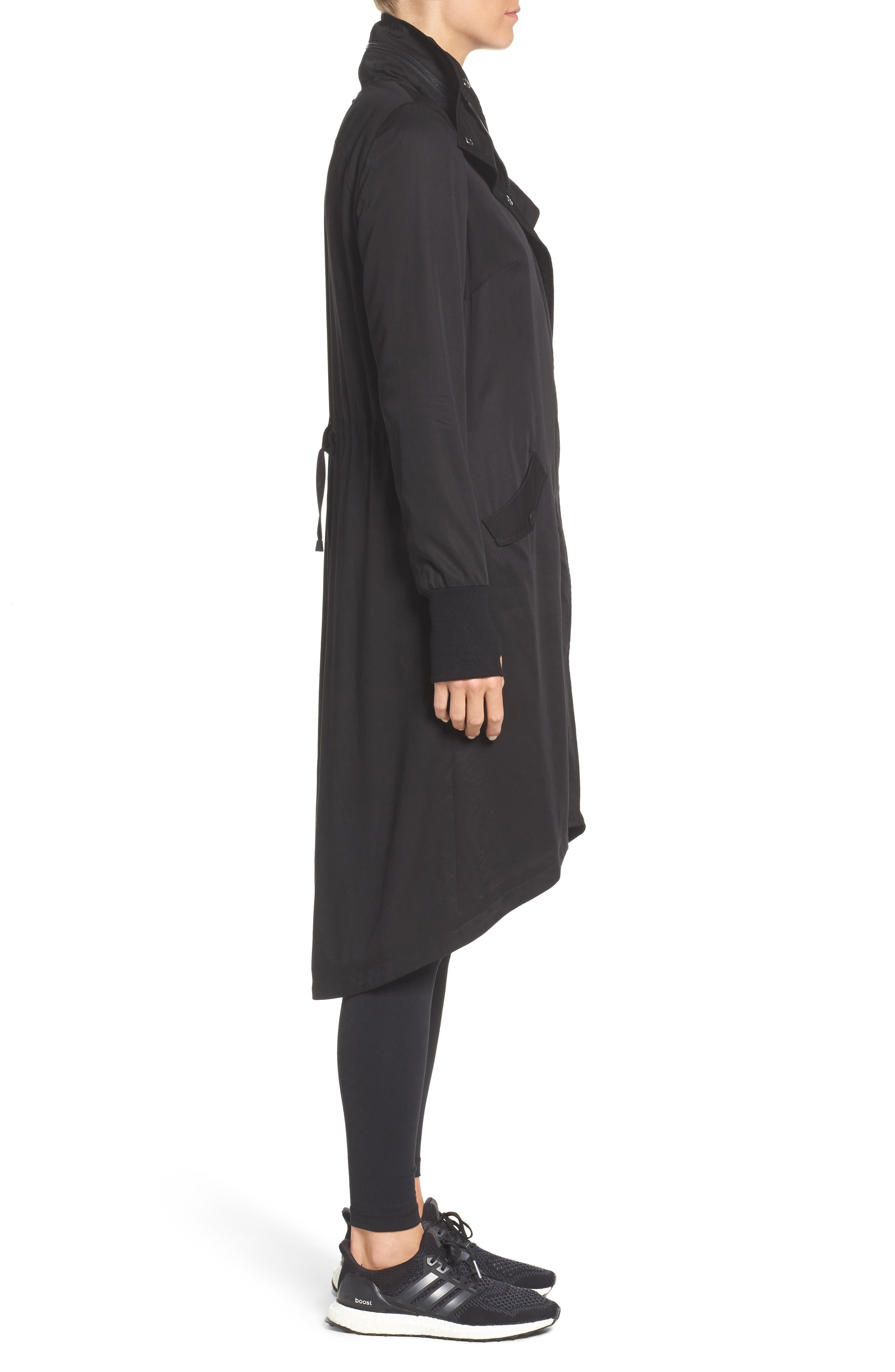Blank Noir Hooded Water Resistant Anorak,                             Alternate thumbnail 3, color,                             001