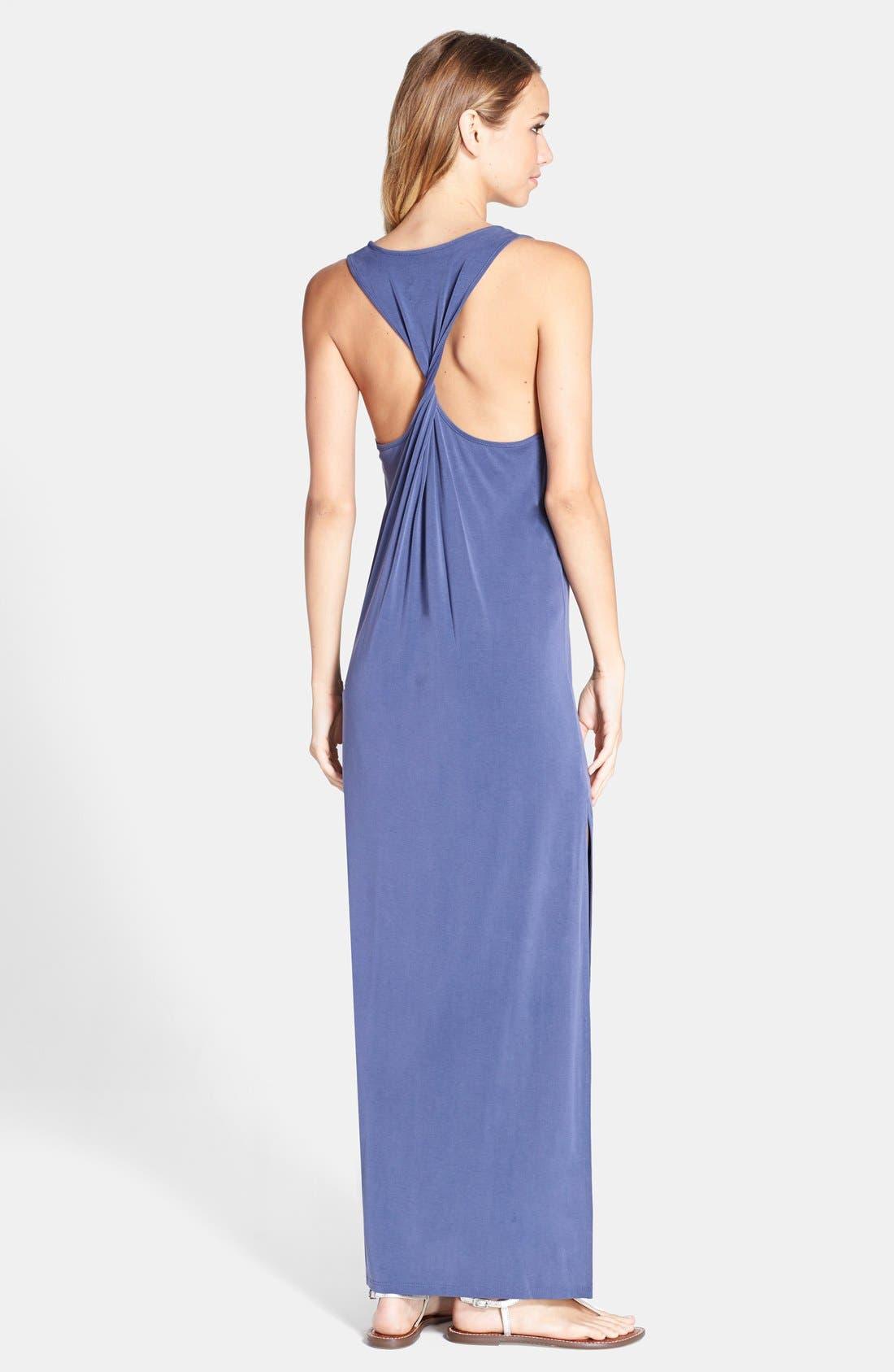BCBGMAXAZRIA,                             'Raeghan' Racerback Jersey Maxi Dress,                             Alternate thumbnail 3, color,                             412