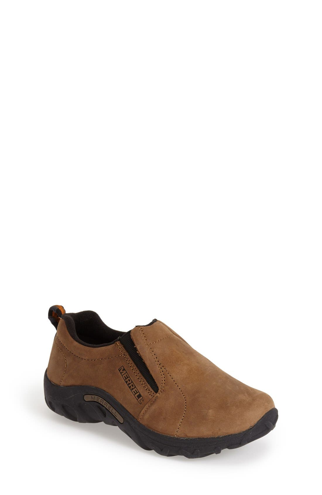 'Jungle Moc' Nubuck Slip-On,                             Main thumbnail 1, color,                             BROWN