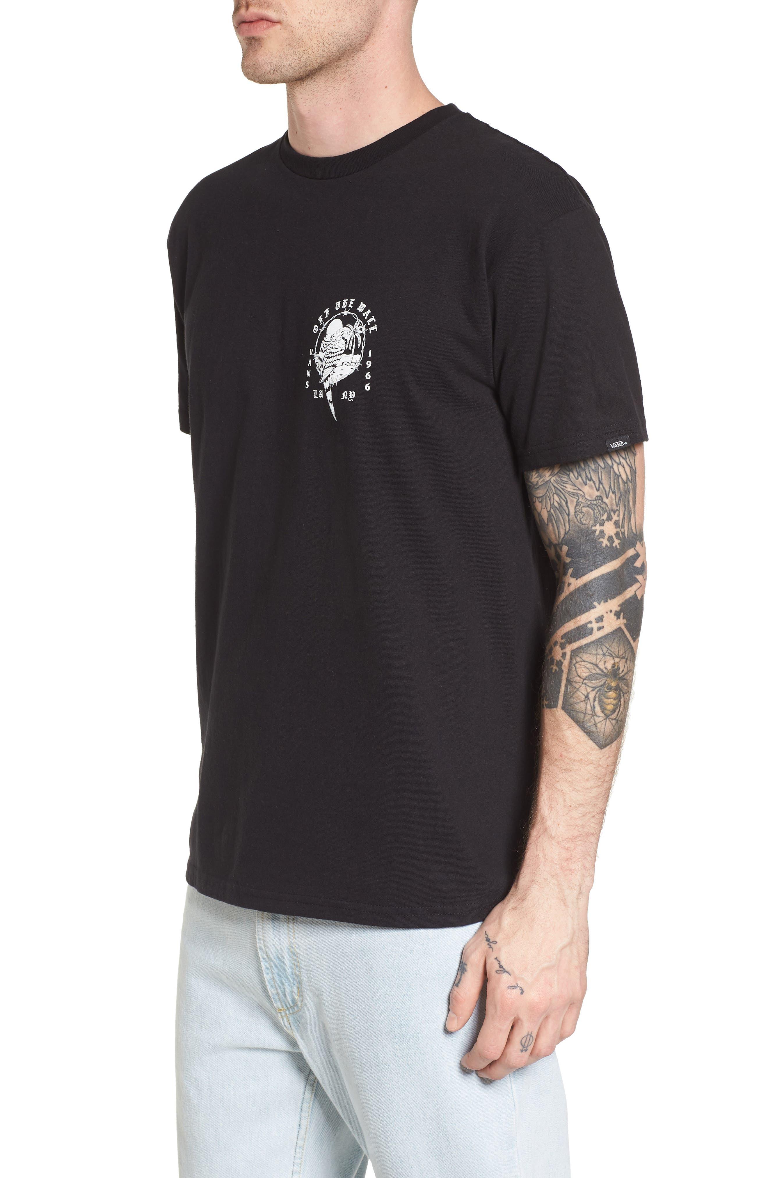 Parrot Beach Graphic T-Shirt,                             Alternate thumbnail 3, color,                             001