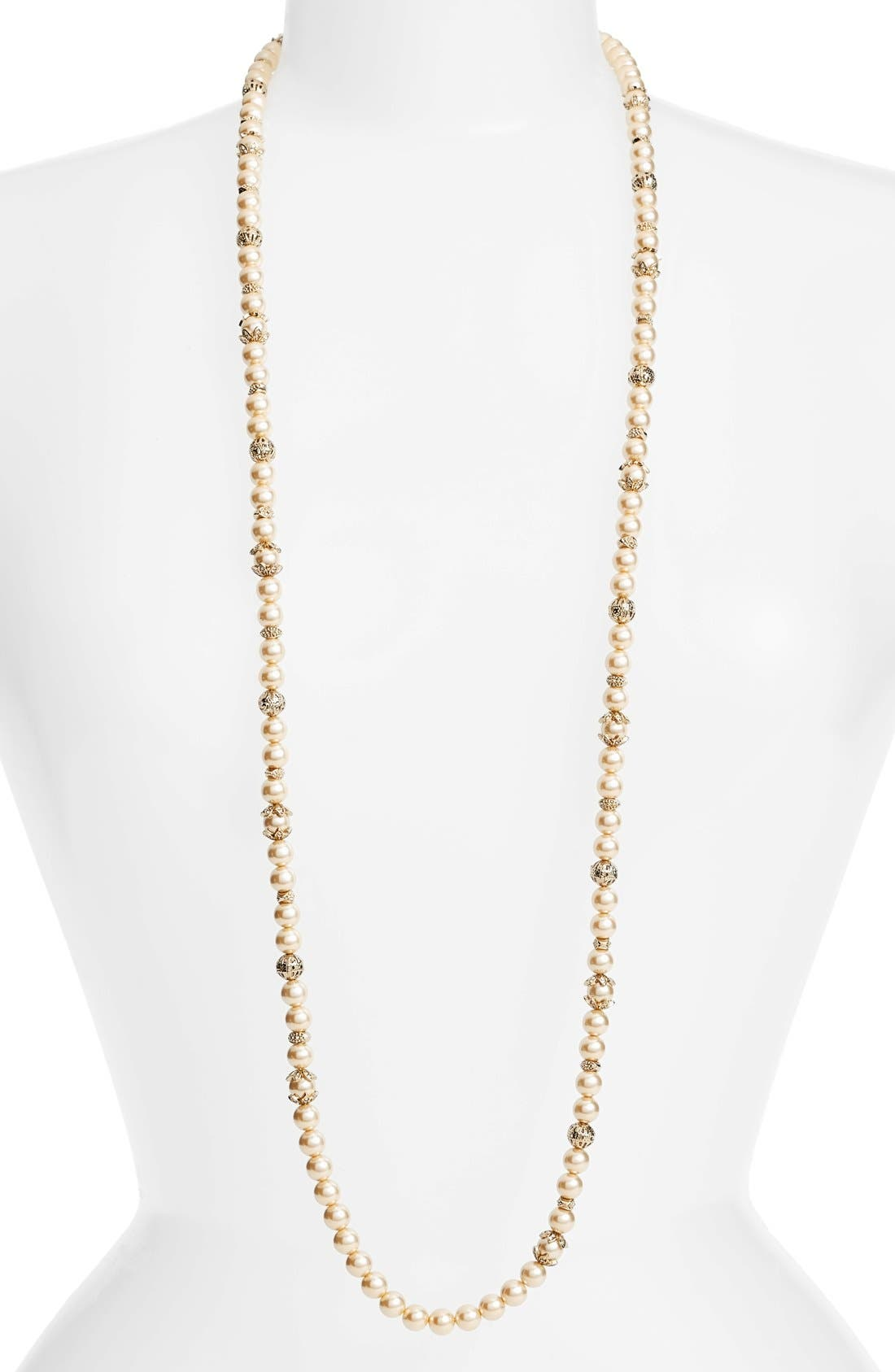 Imitation Pearl Strand Necklace,                         Main,                         color,