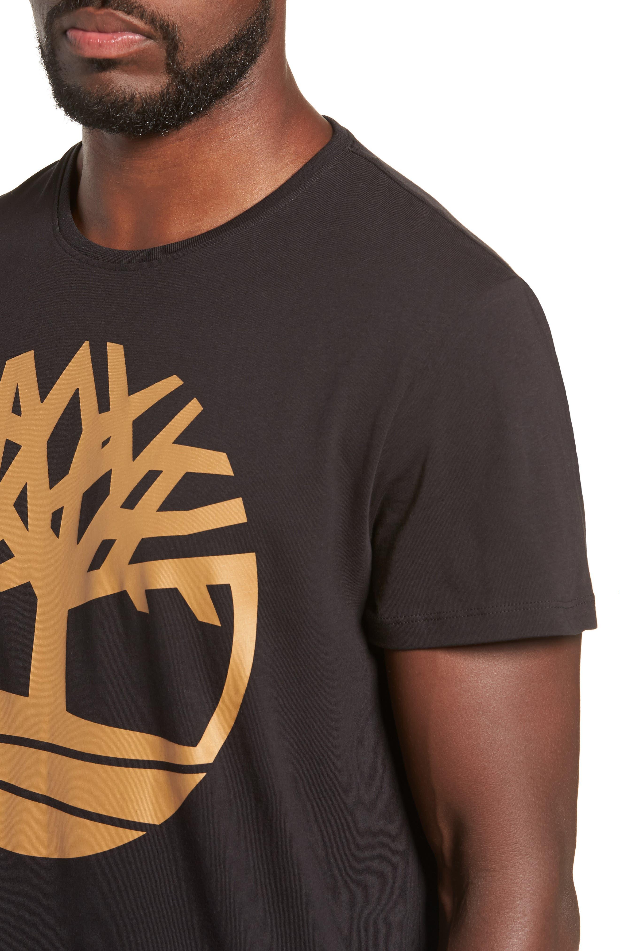 Core Logo T-Shirt,                             Alternate thumbnail 4, color,                             BLACK TREE