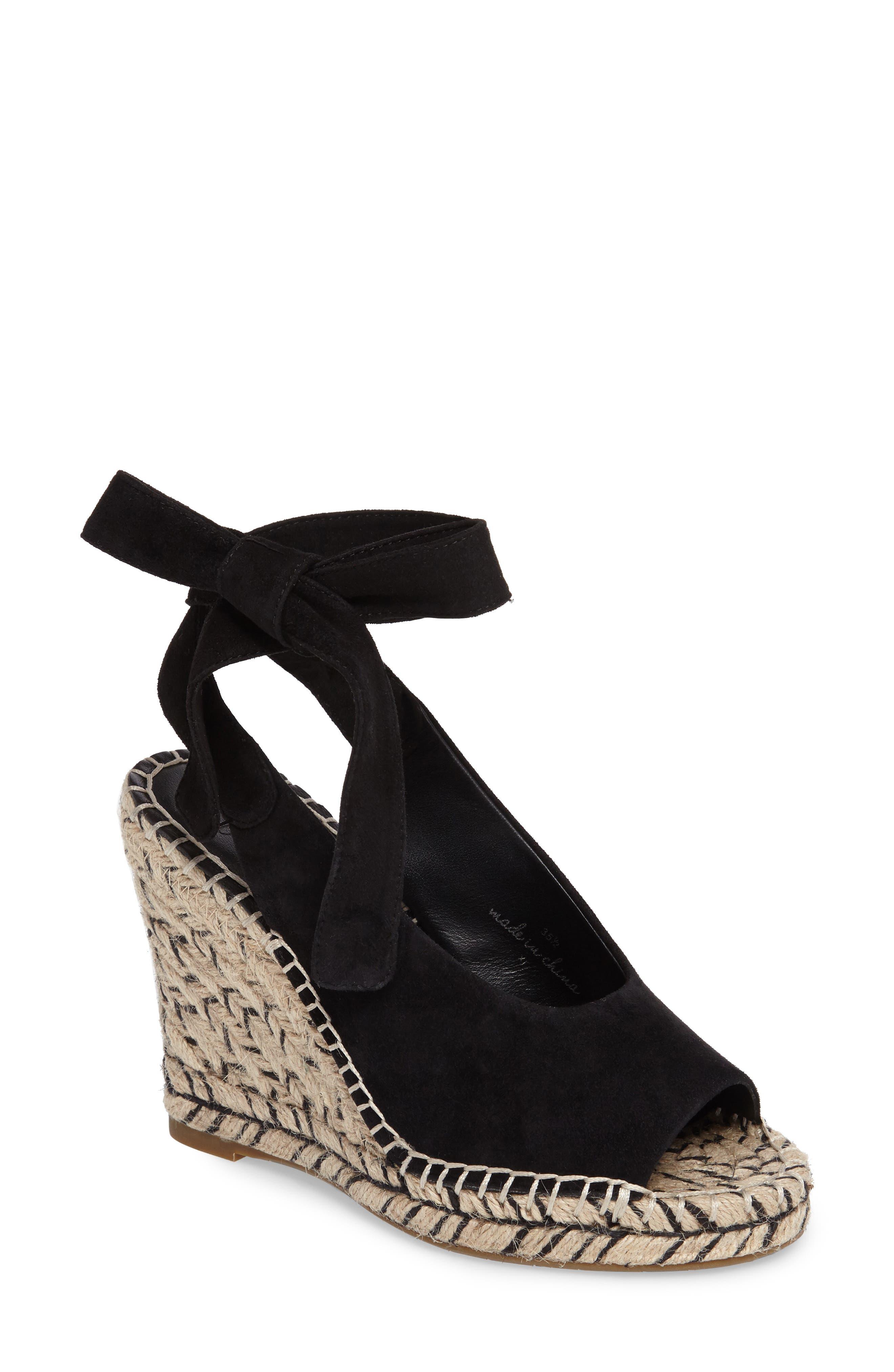 Kael Wedge Sandal,                         Main,                         color, 001