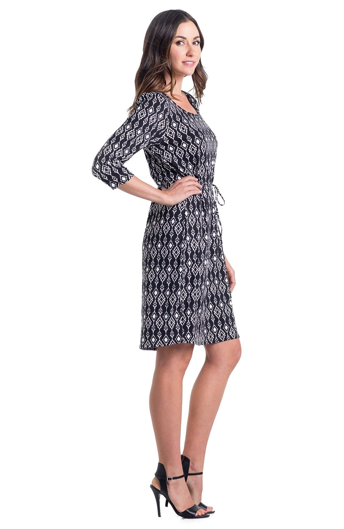 Print Maternity Dress,                             Alternate thumbnail 18, color,