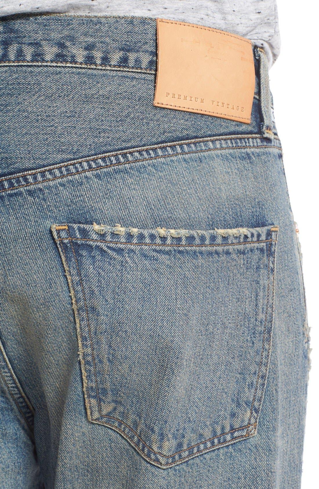 Rowan Slouchy Skinny Fit Jeans,                             Alternate thumbnail 4, color,                             462