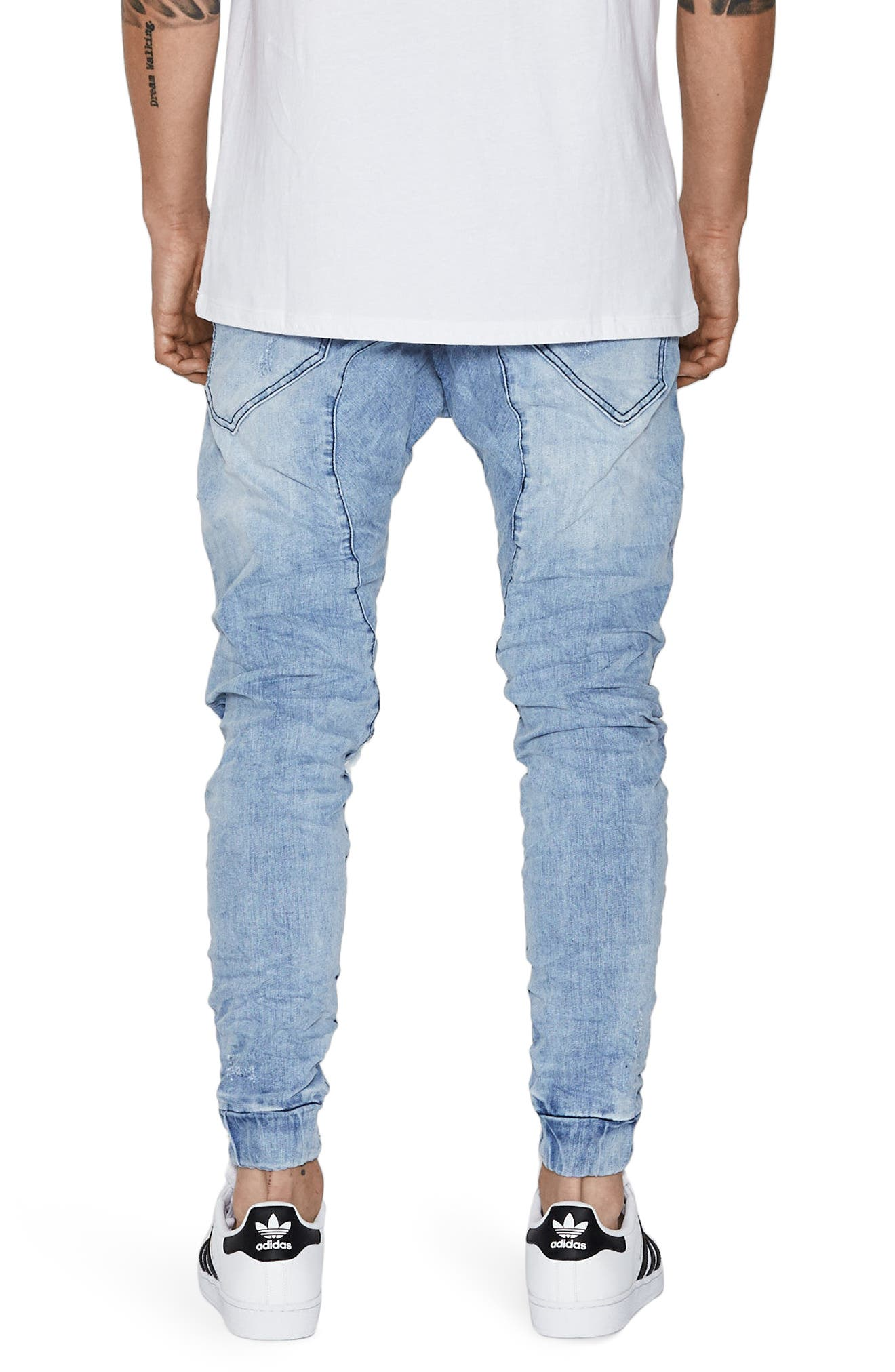 Flight Skinny Denim Jogger Pants,                             Alternate thumbnail 16, color,