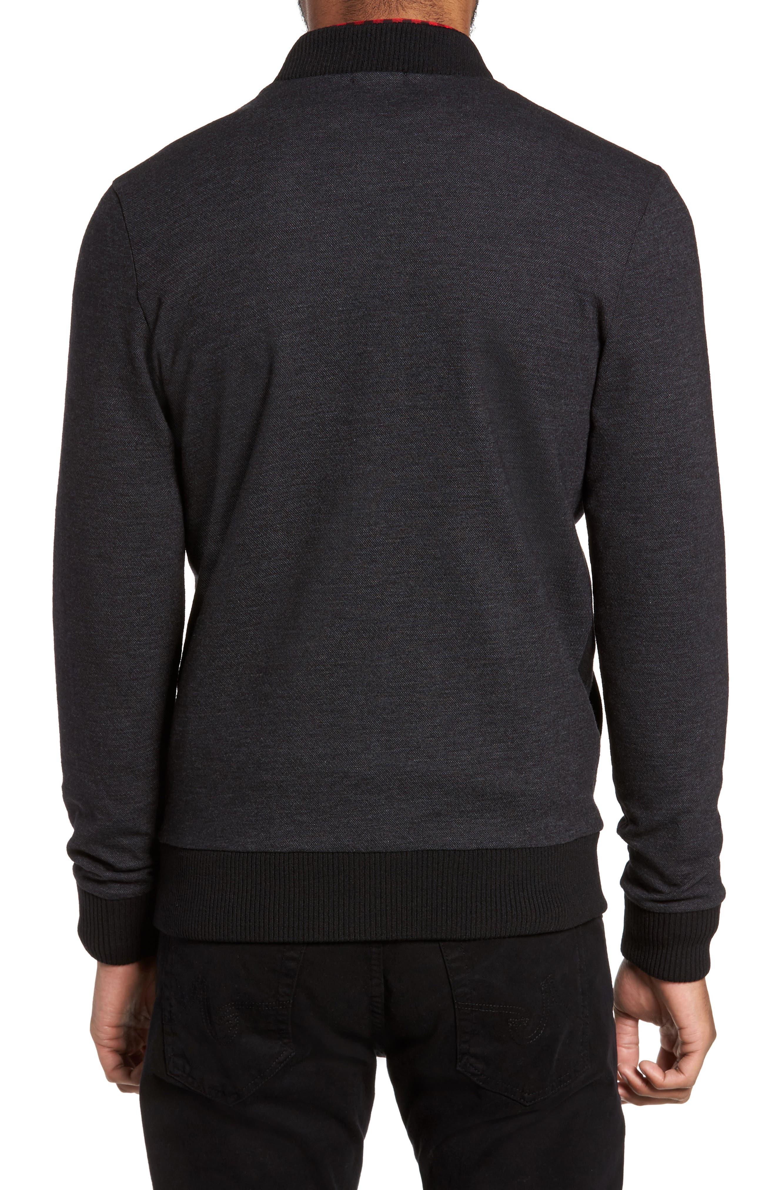 Salea Check Wool Blend Bomber Jacket,                             Alternate thumbnail 2, color,                             001