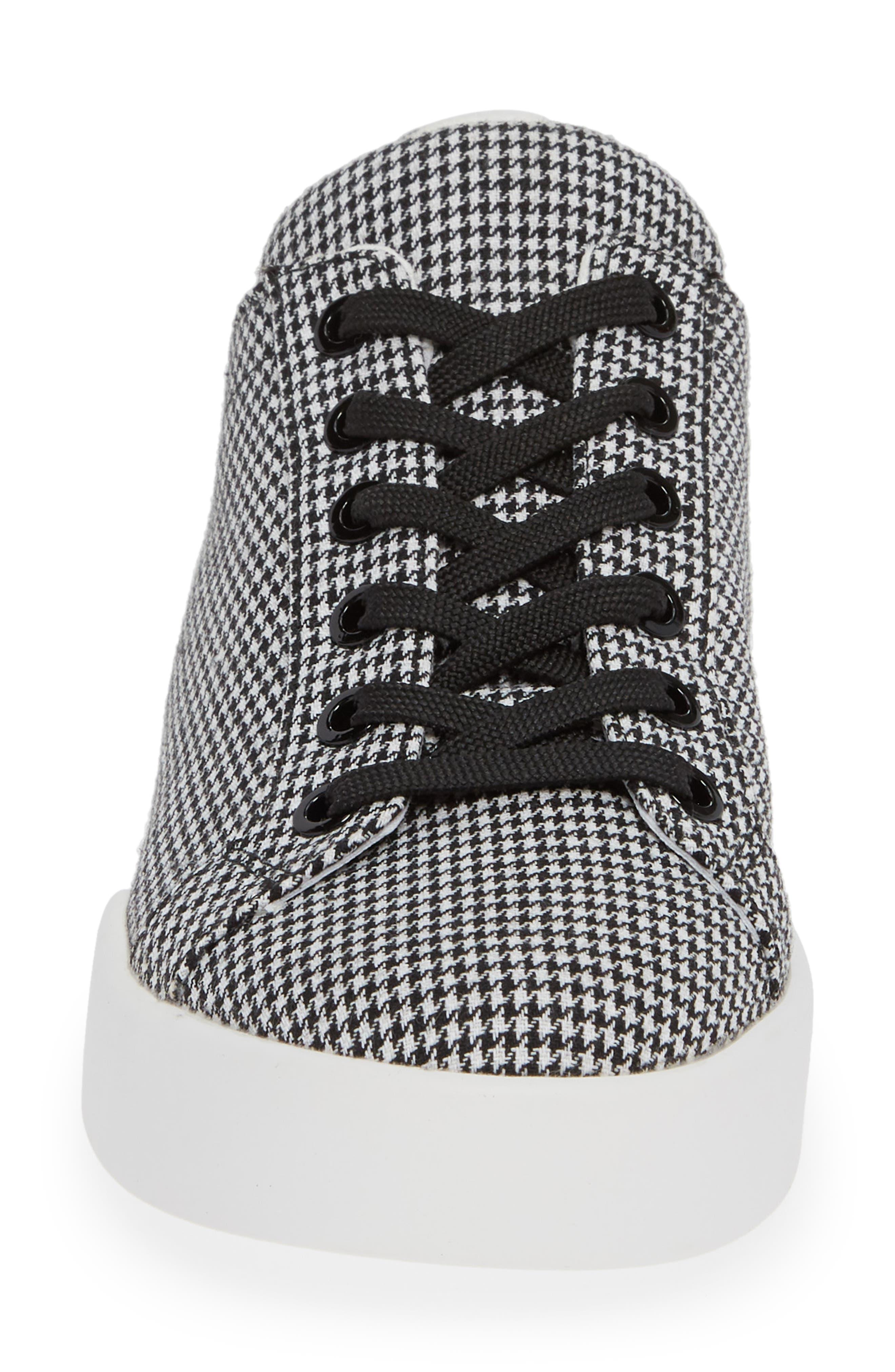 Tyler Sneaker,                             Alternate thumbnail 4, color,                             BLACK/ WHITE FABRIC