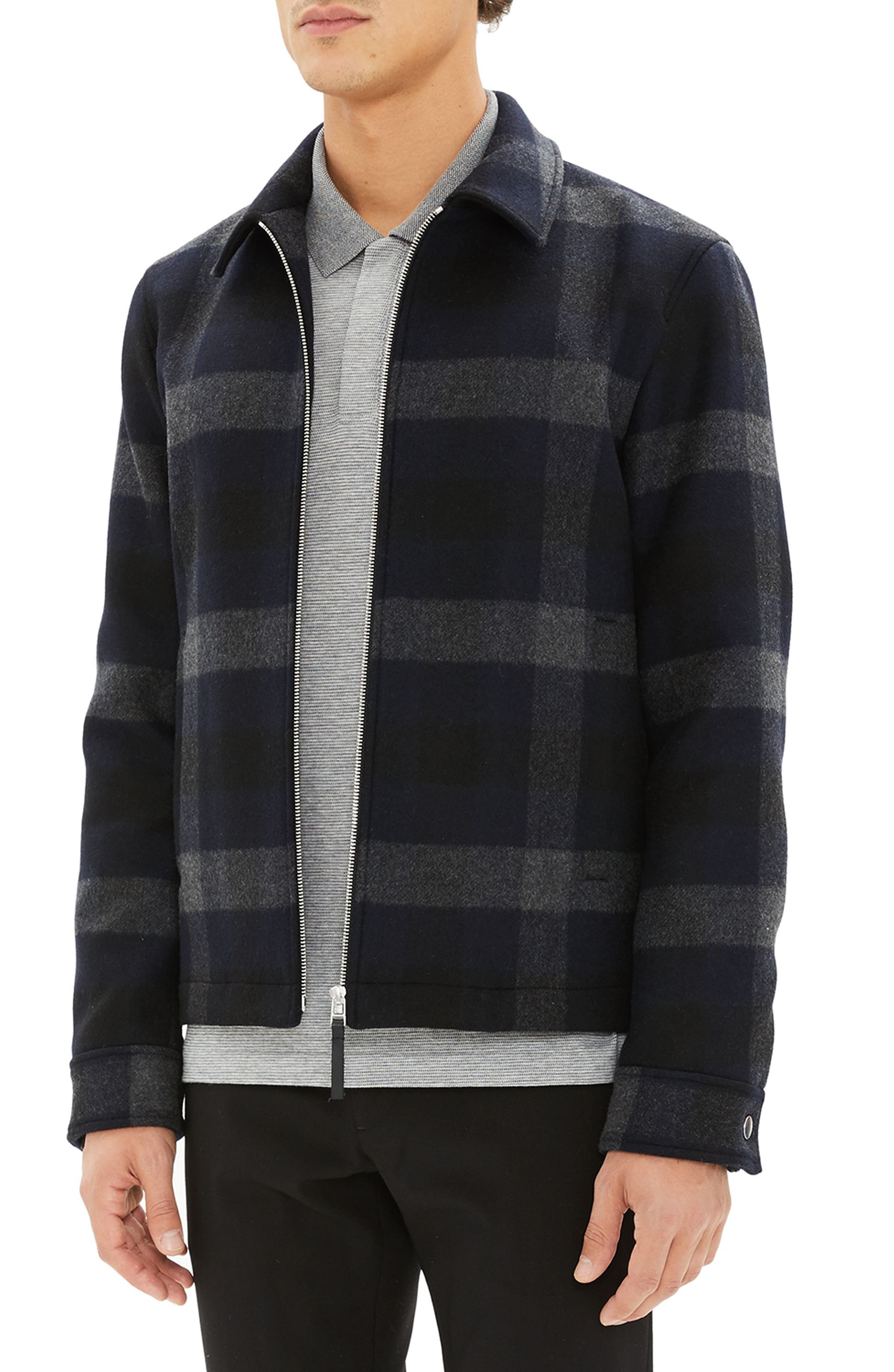 Wyatt Regular Fit Plaid Wool Shirt Jacket,                             Alternate thumbnail 3, color,                             017