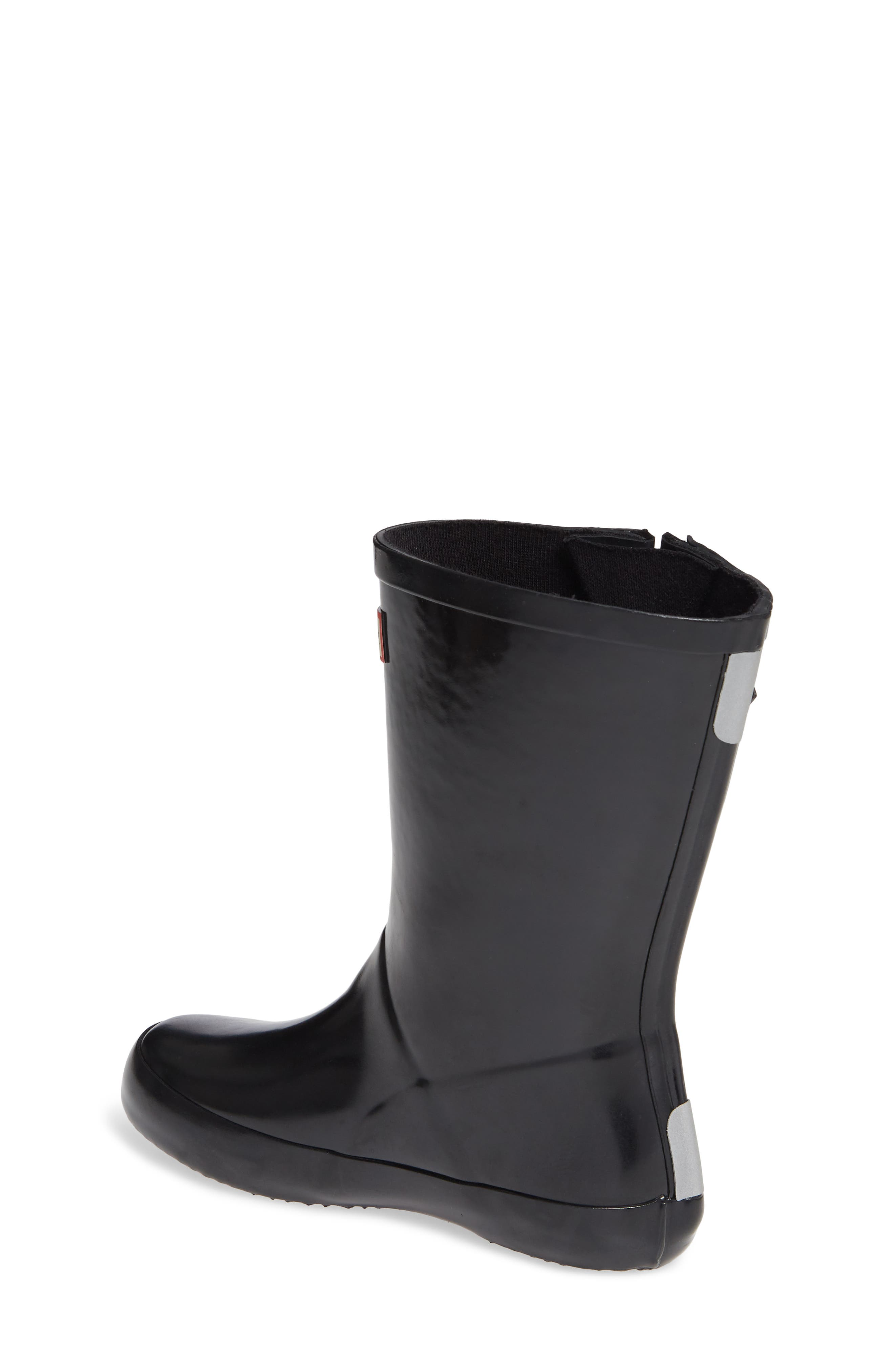 Original Flat Sole Gloss Rain Boot,                             Alternate thumbnail 2, color,                             BLACK