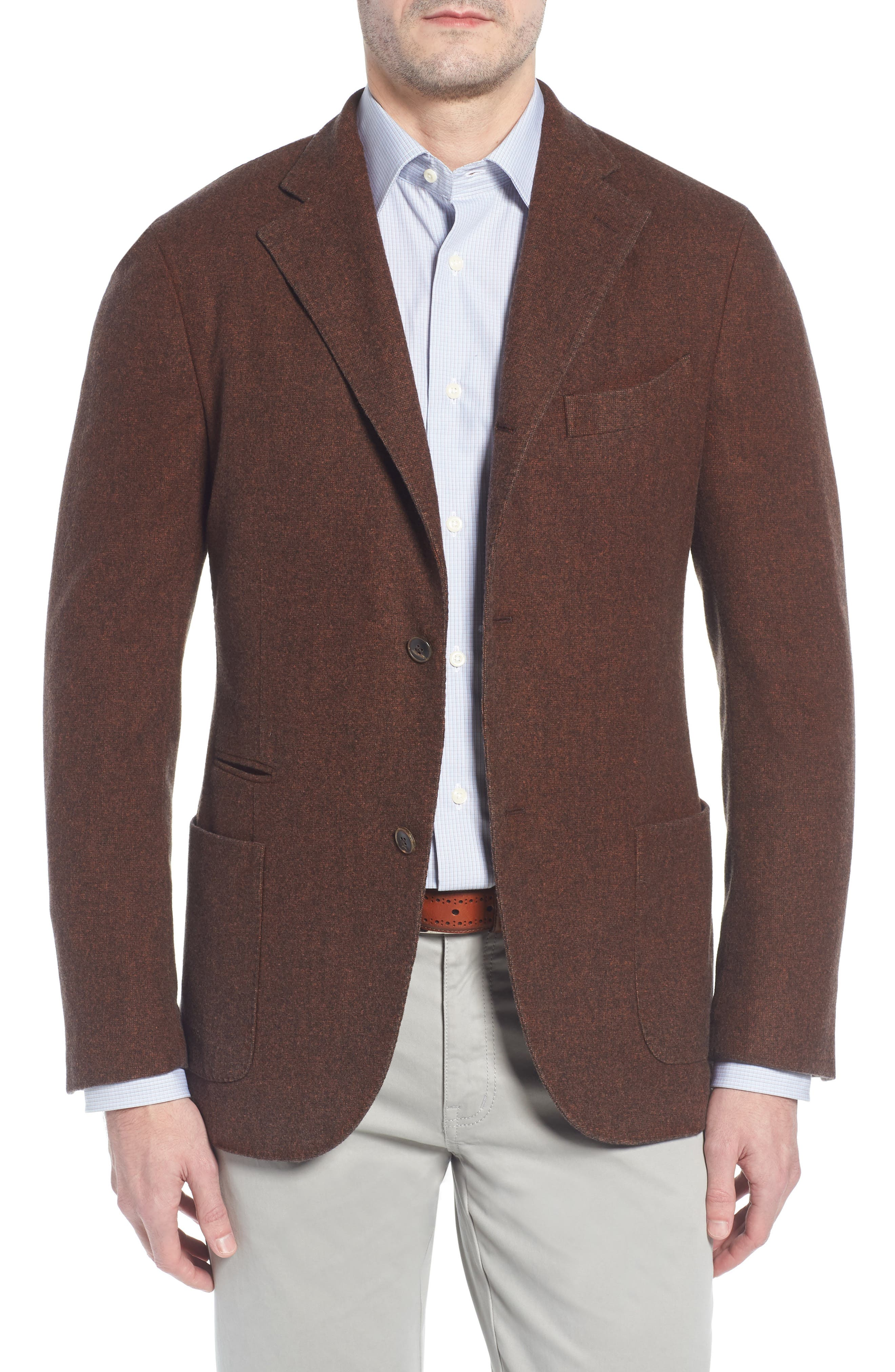 Trim Fit Wool Blazer,                             Main thumbnail 1, color,