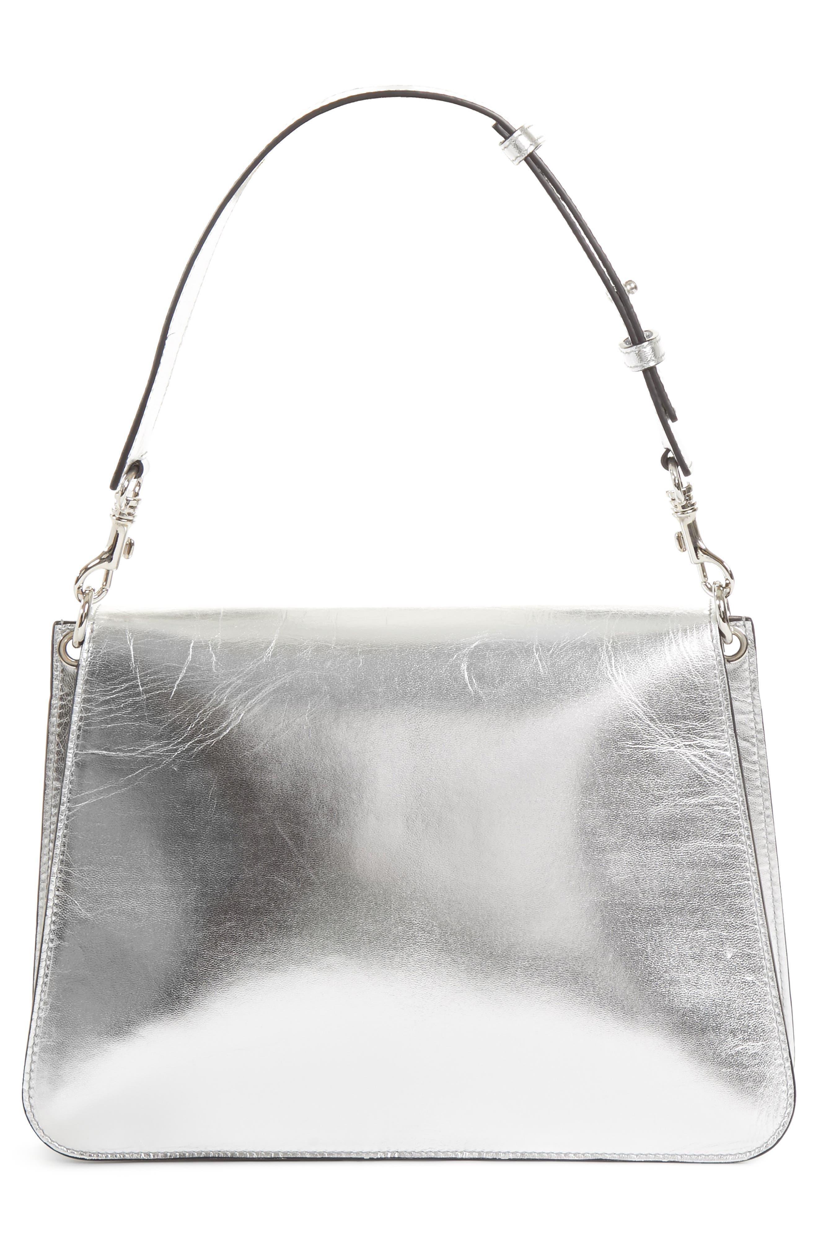 J.W.ANDERSON Medium Pierce Metallic Shoulder Bag,                             Alternate thumbnail 3, color,                             040