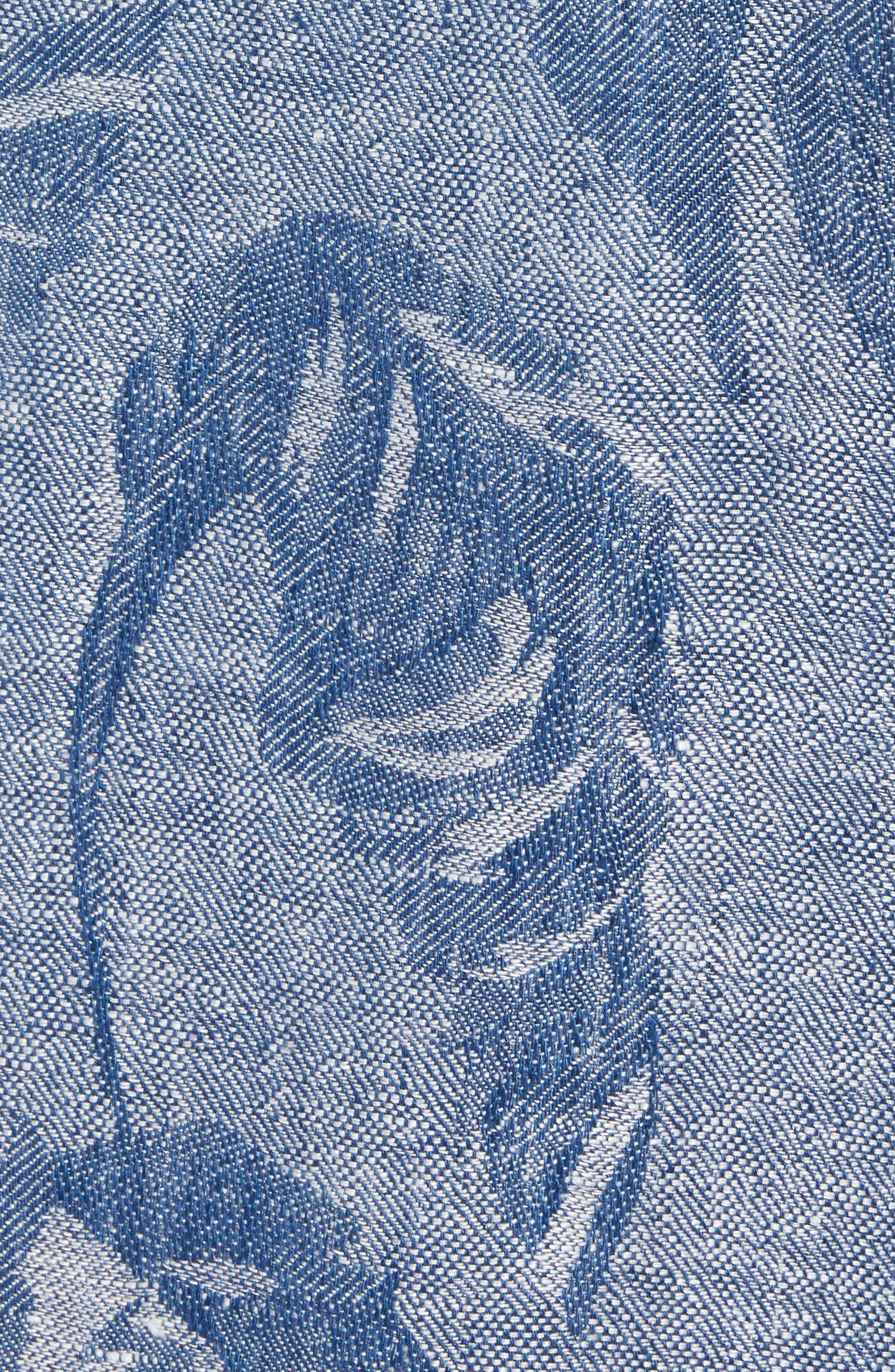 Help Me Fronda Linen Camp Shirt,                             Alternate thumbnail 5, color,                             401