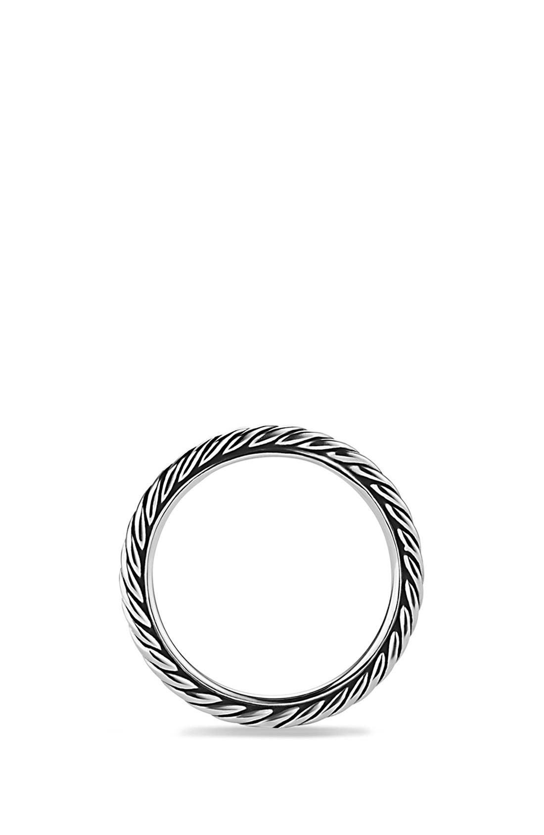 'Cable Classics' Band Ring,                             Alternate thumbnail 3, color,                             SILVER