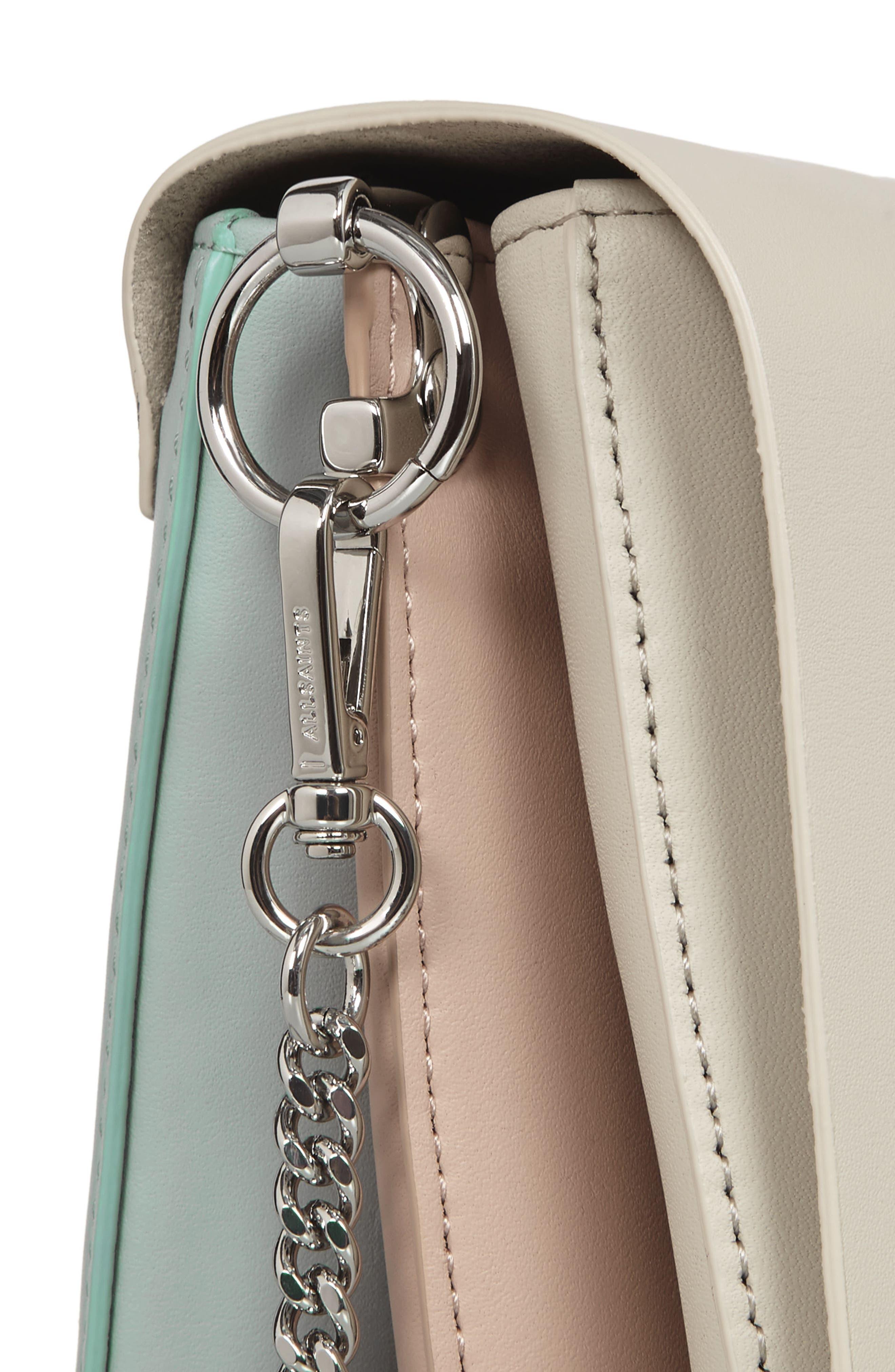Zep Colorblock Leather Shoulder Bag,                             Alternate thumbnail 5, color,                             115