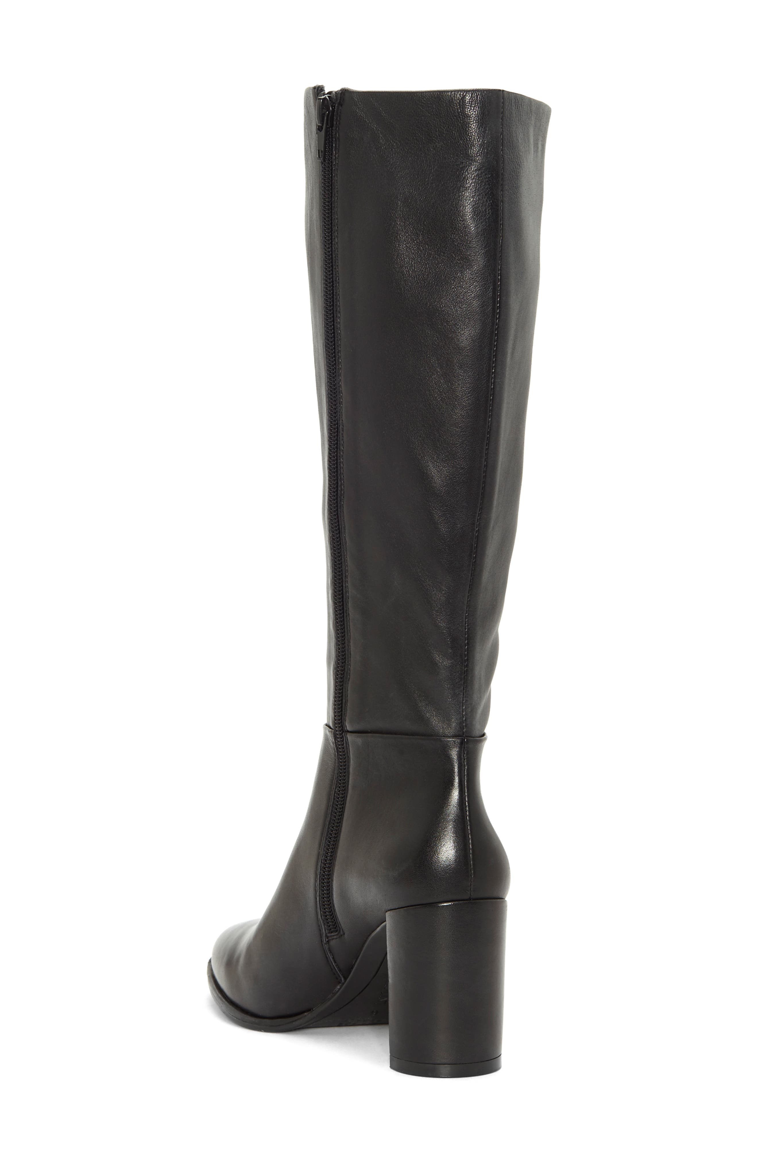 Wenda Knee High Boot,                             Alternate thumbnail 2, color,                             BLACK LEATHER