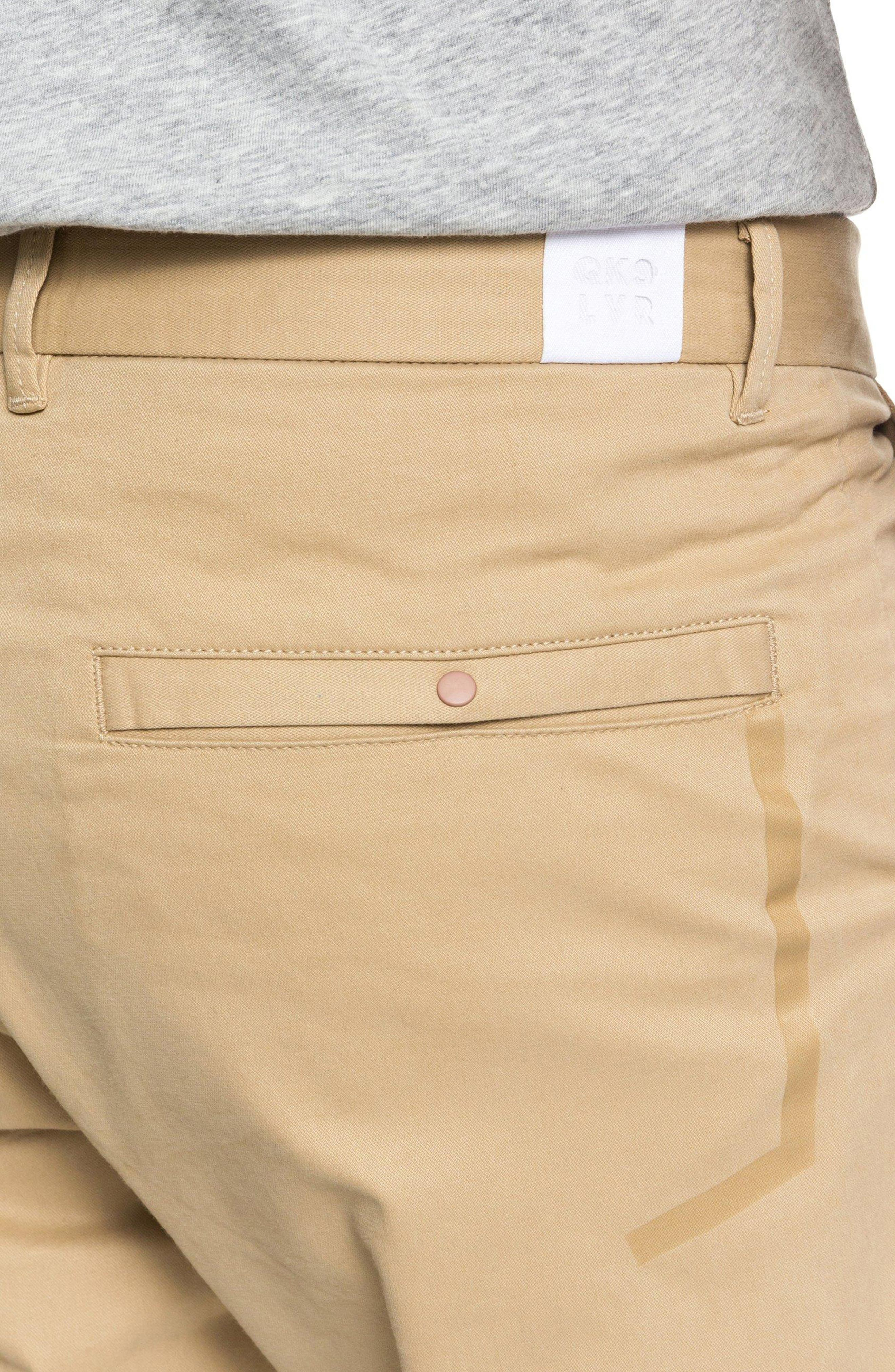 Slim Fit Chinos,                             Alternate thumbnail 4, color,                             PLAGE