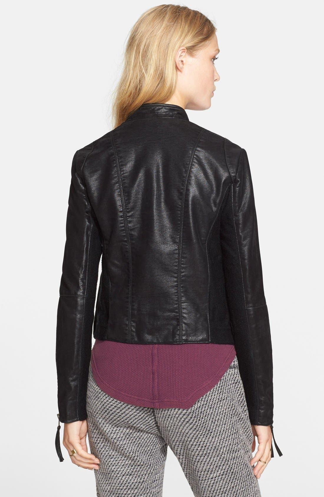 Faux Leather Jacket,                             Alternate thumbnail 11, color,