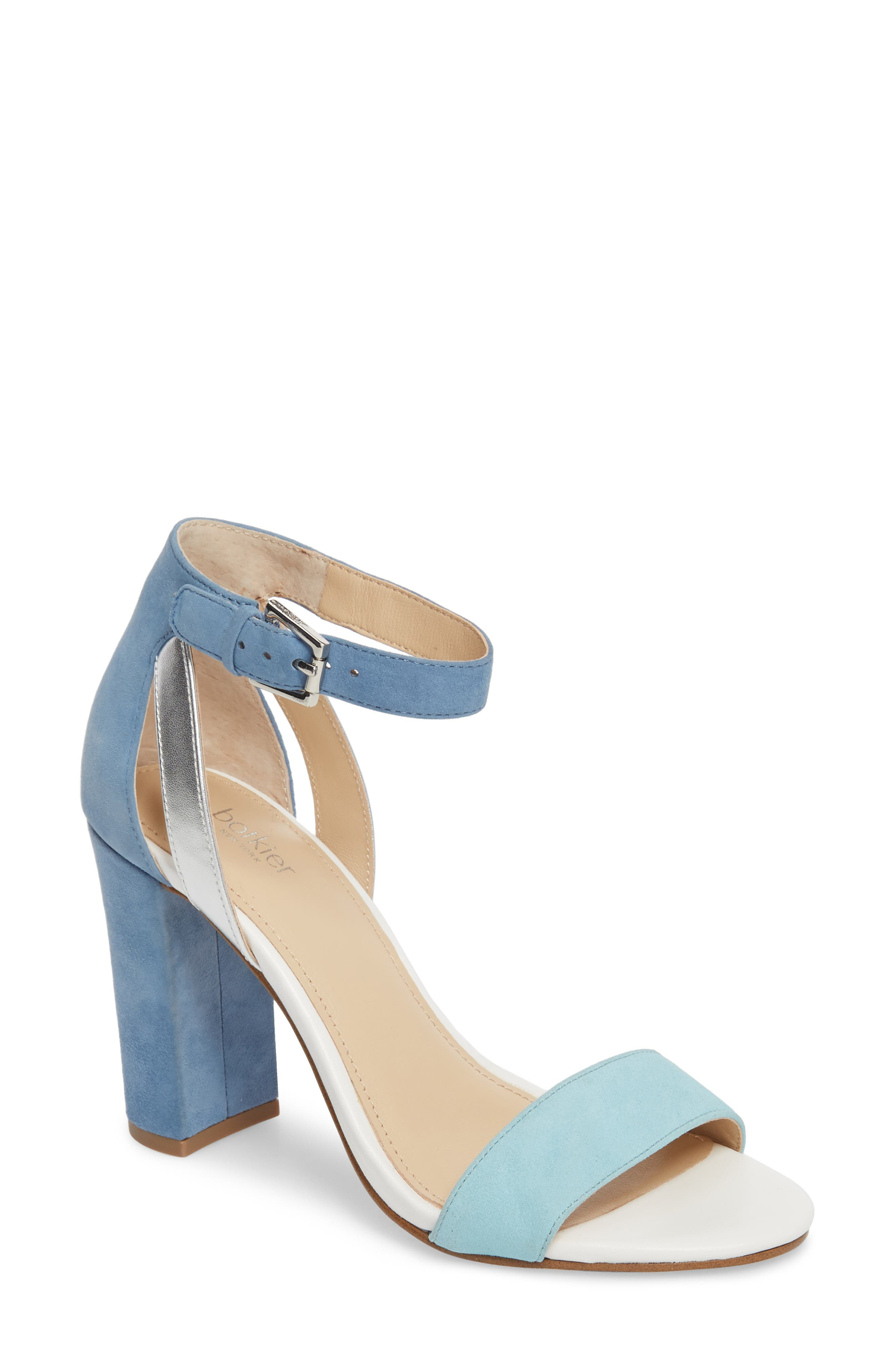 Gianna Ankle Strap Sandal,                         Main,                         color, SKY SUEDE