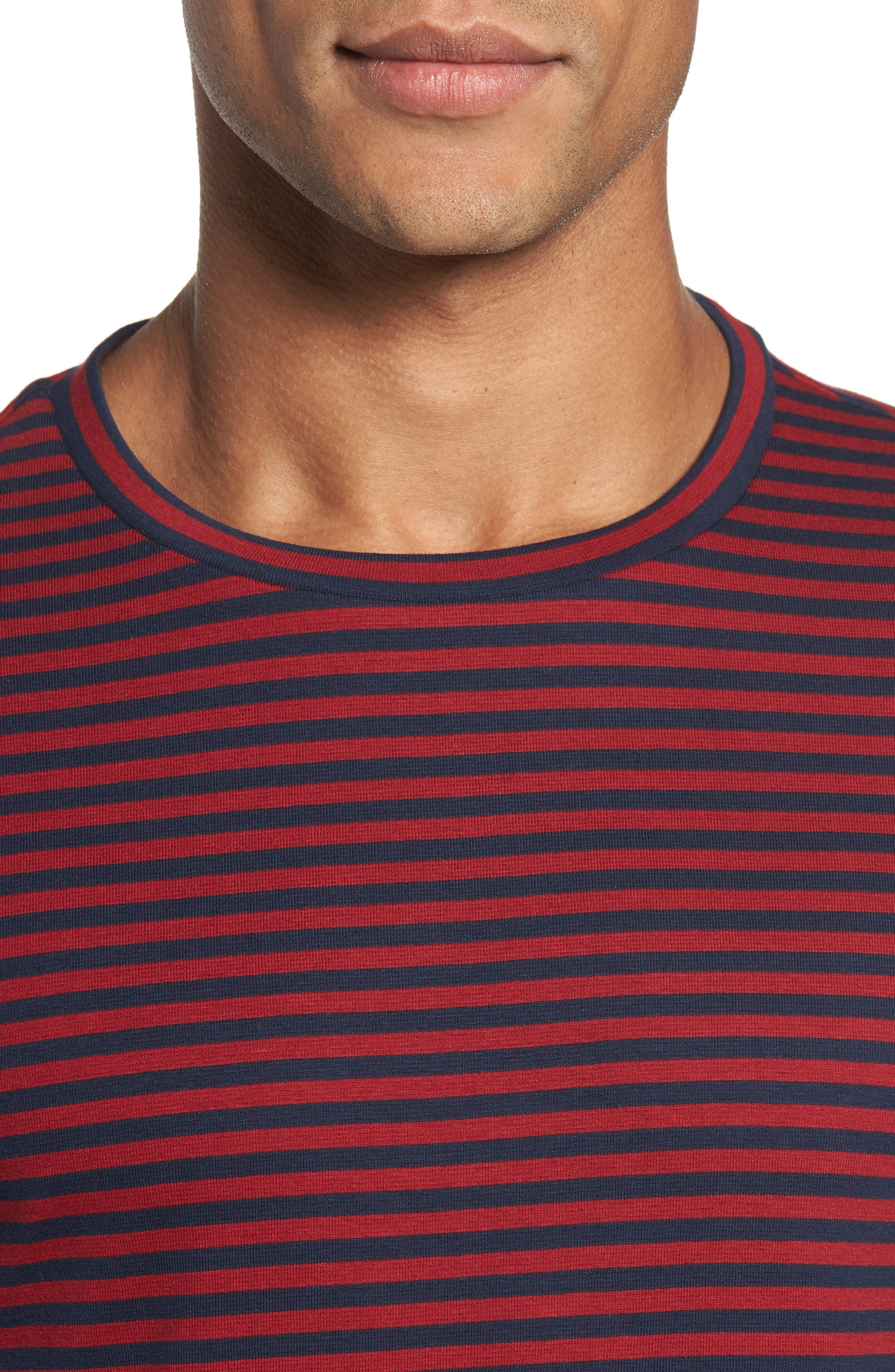 Stripe Long Sleeve T-Shirt,                             Alternate thumbnail 4, color,                             611