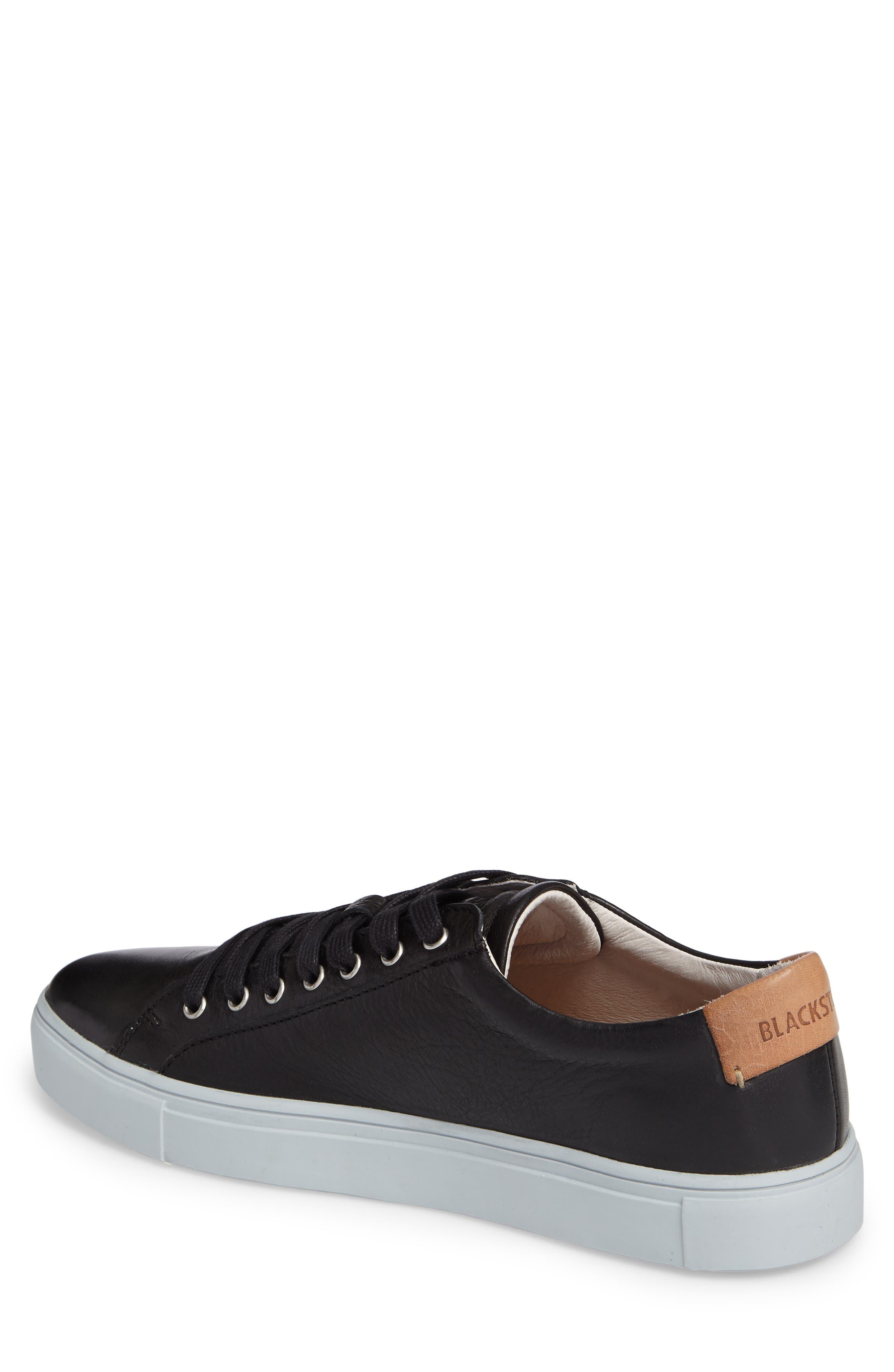 NM01 7 Eyelet Sneaker,                             Alternate thumbnail 2, color,                             BLACK LEATHER