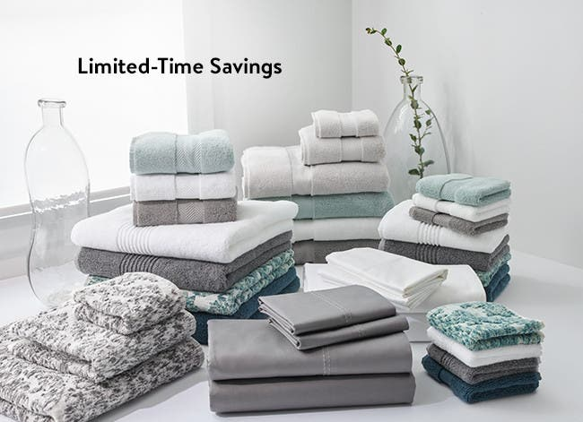 Limited-time savings on home decor, bedding, bath and more.