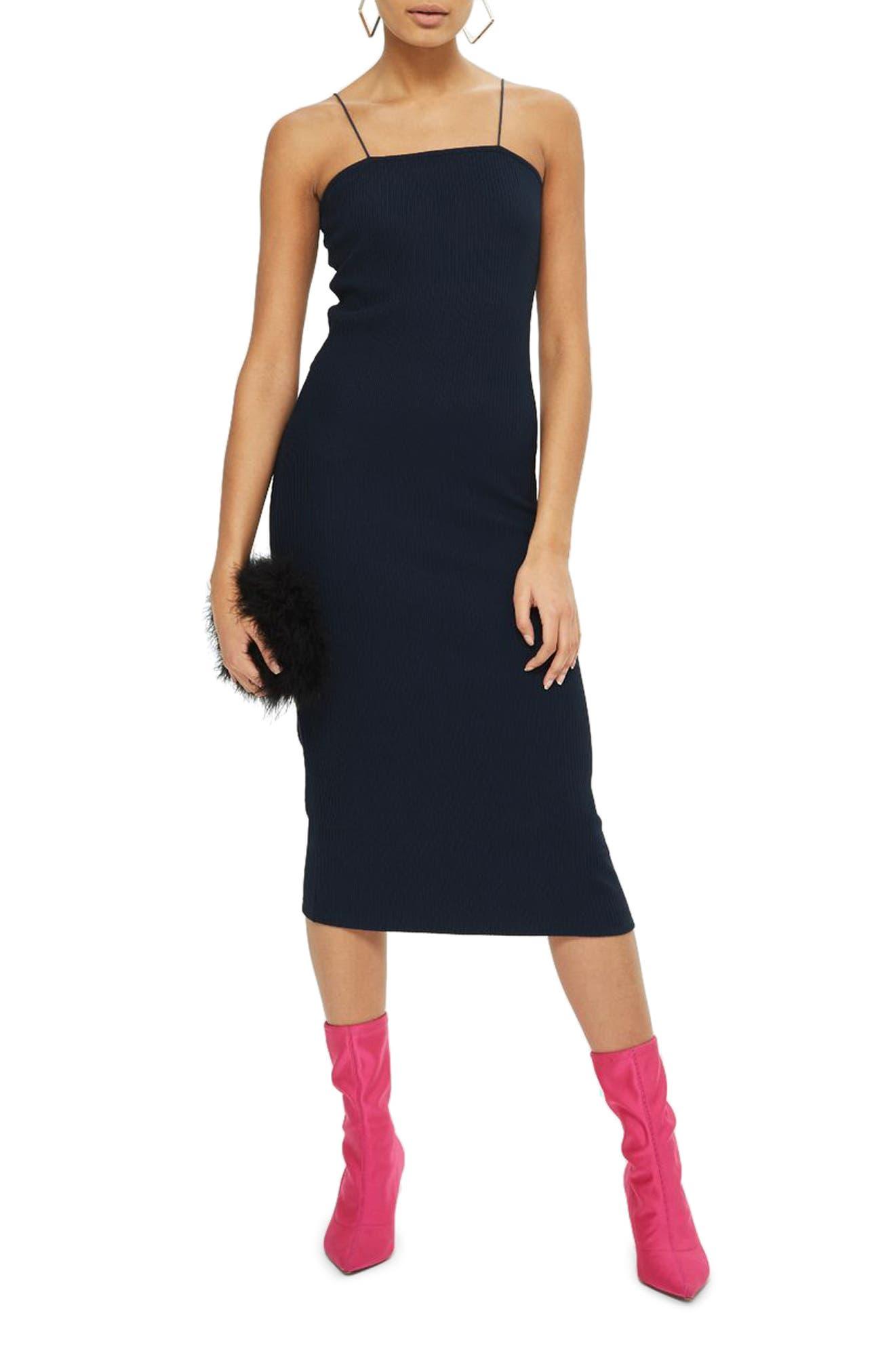 Square Neck Body-Con Midi Dress,                             Main thumbnail 3, color,