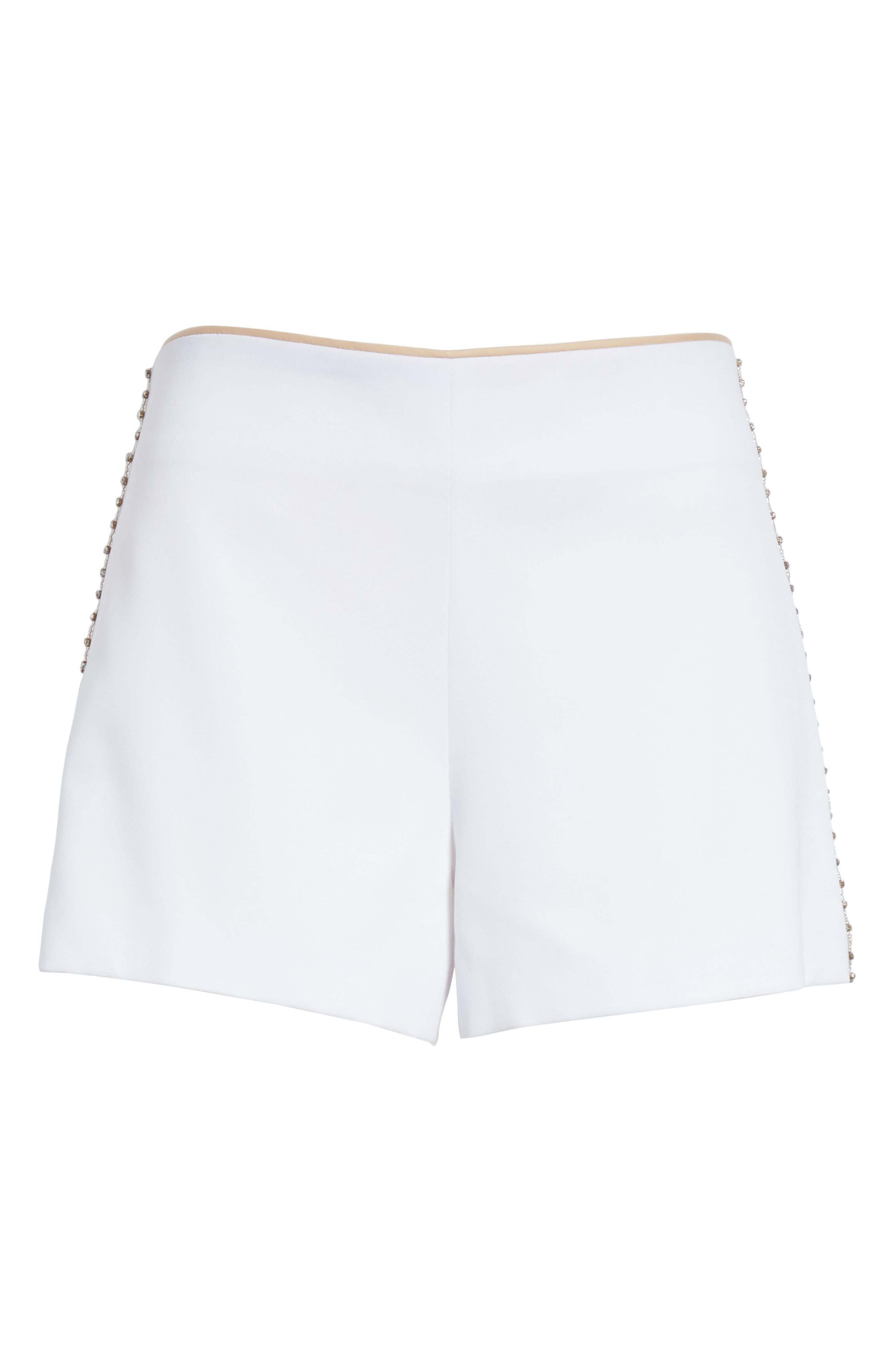 Sherri Embellished Shorts,                             Alternate thumbnail 6, color,                             100