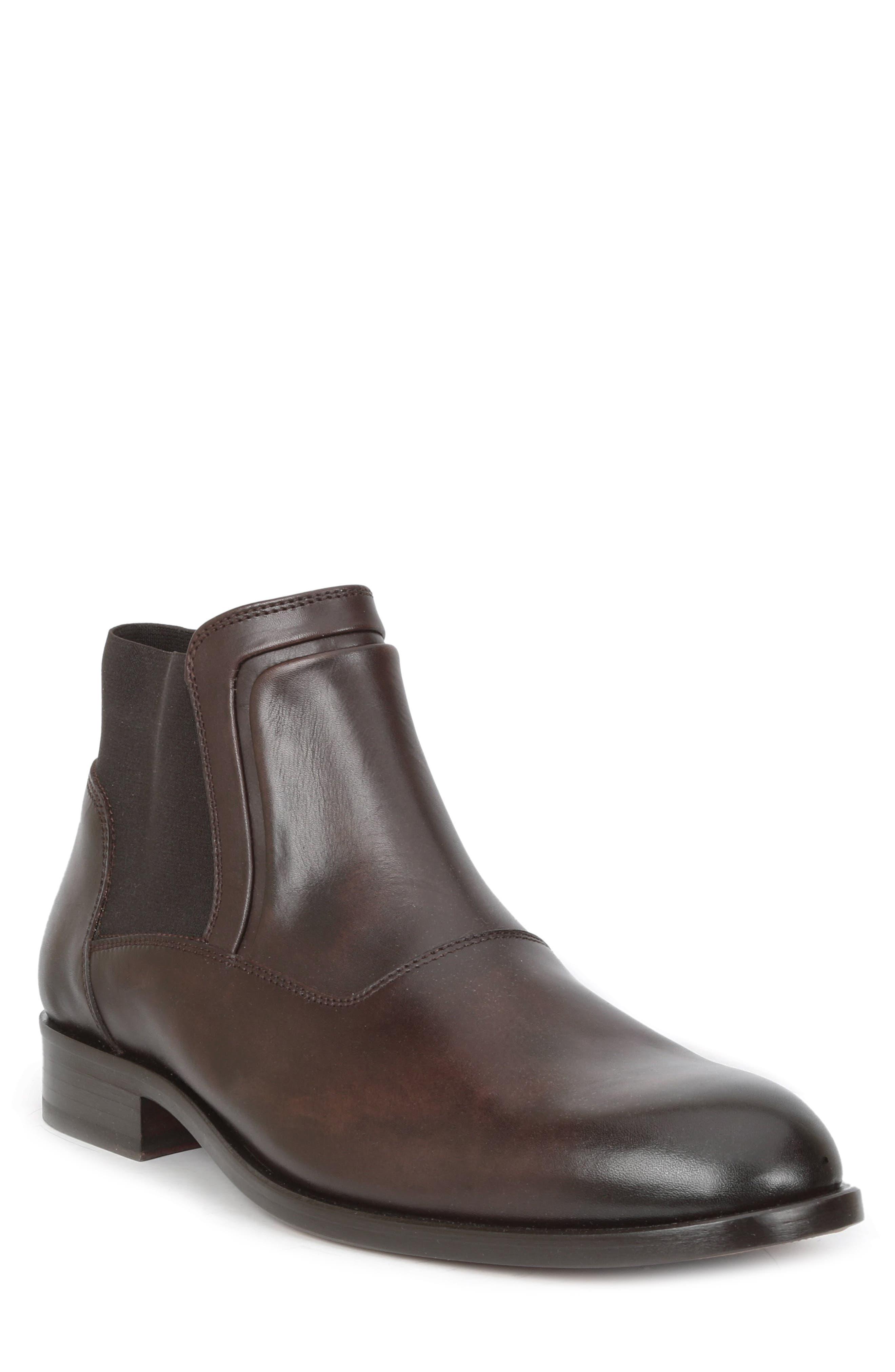 BRUNO MAGLI Sancho Dress Chelsea Boots in Dark Brown