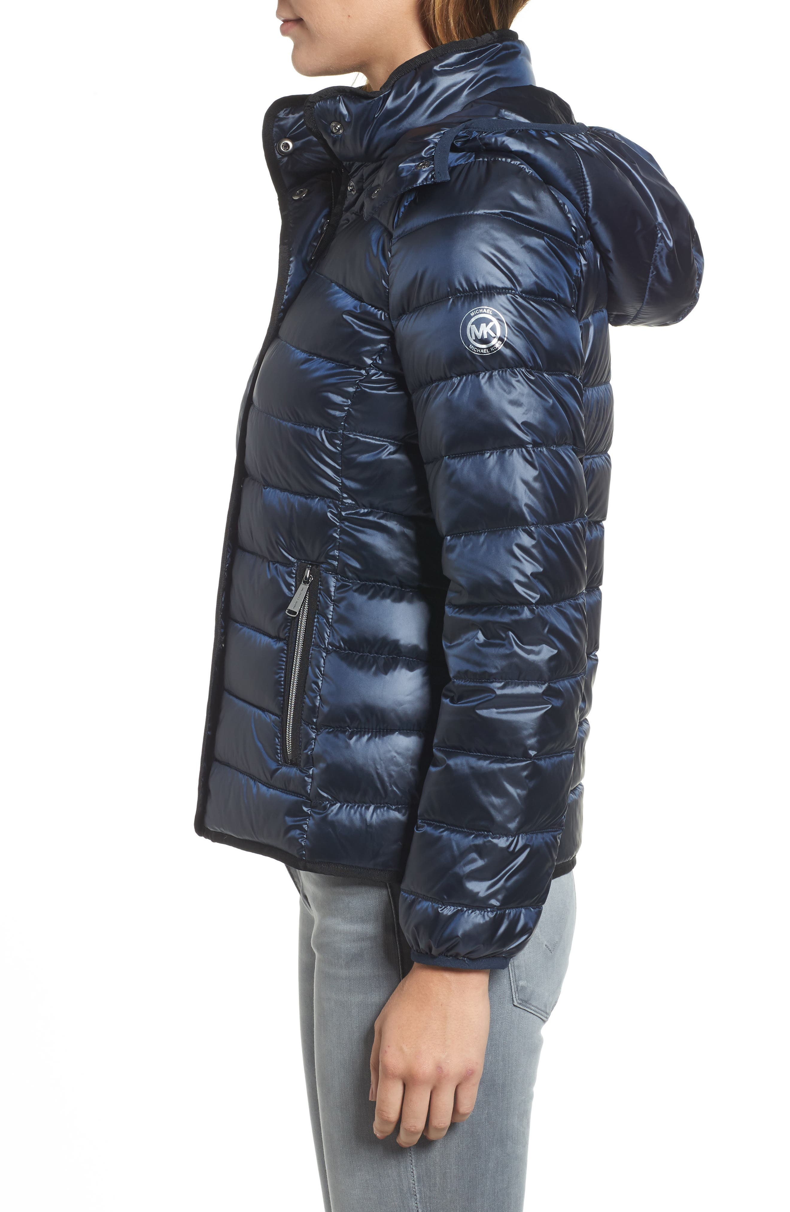 Packable Insulated Jacket with Removable Hood,                             Alternate thumbnail 11, color,