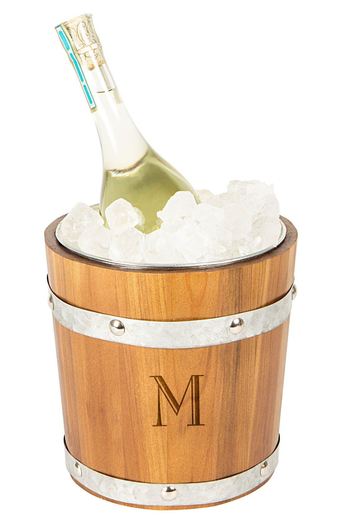 Rustic Monogram Ice Bucket,                             Main thumbnail 14, color,
